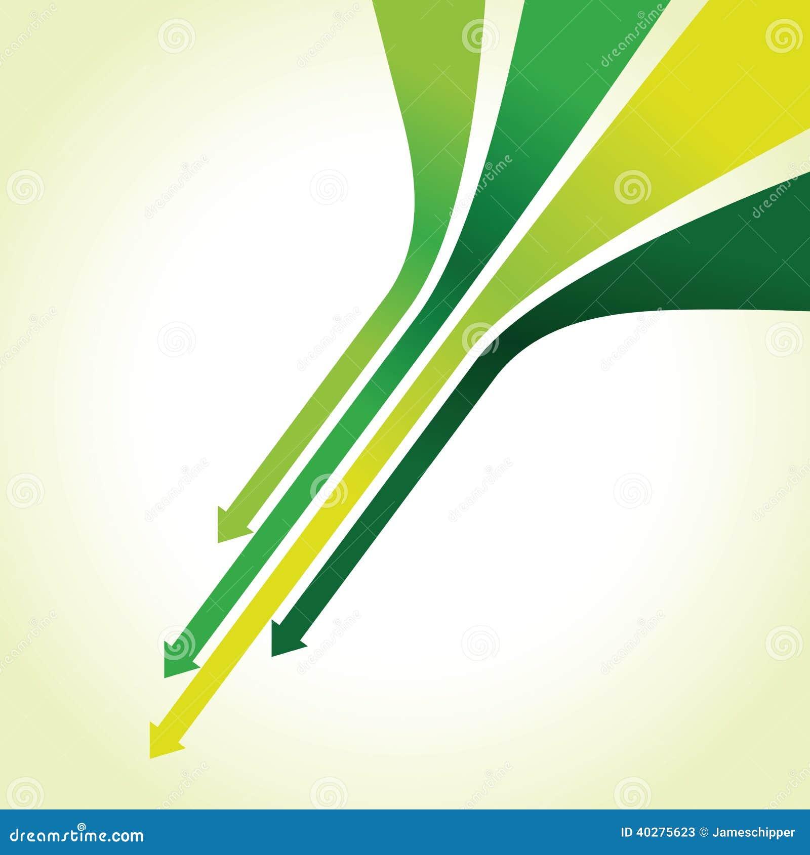 Зеленая линия предпосылка стрелки