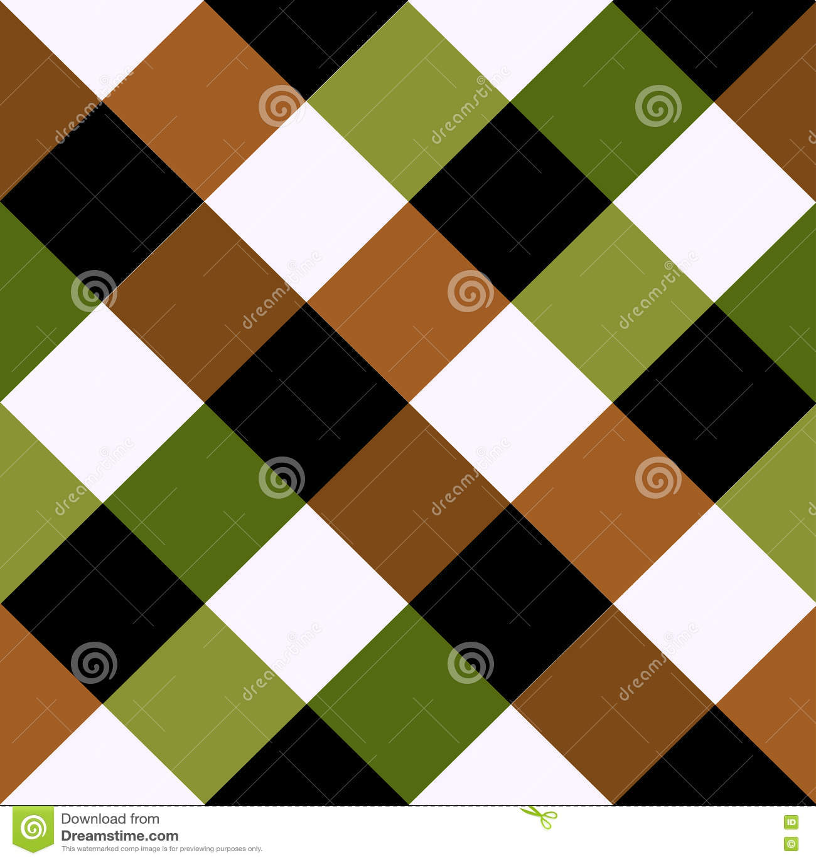 Зеленая предпосылка диаманта шахматной доски Брайна