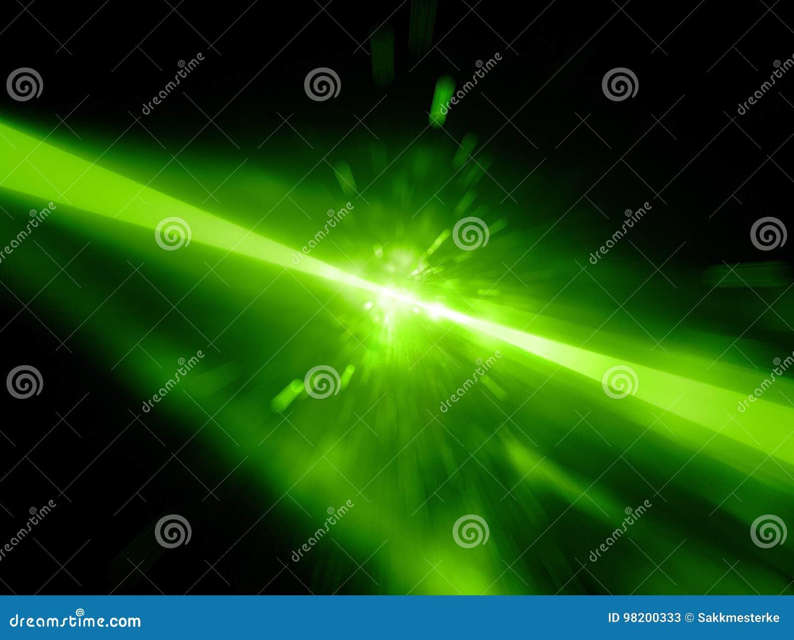 Download Зеленые накаляя лазерные лучи ударяя цель, взрыв Иллюстрация штока - иллюстрации насчитывающей свет, лазер: 98200333