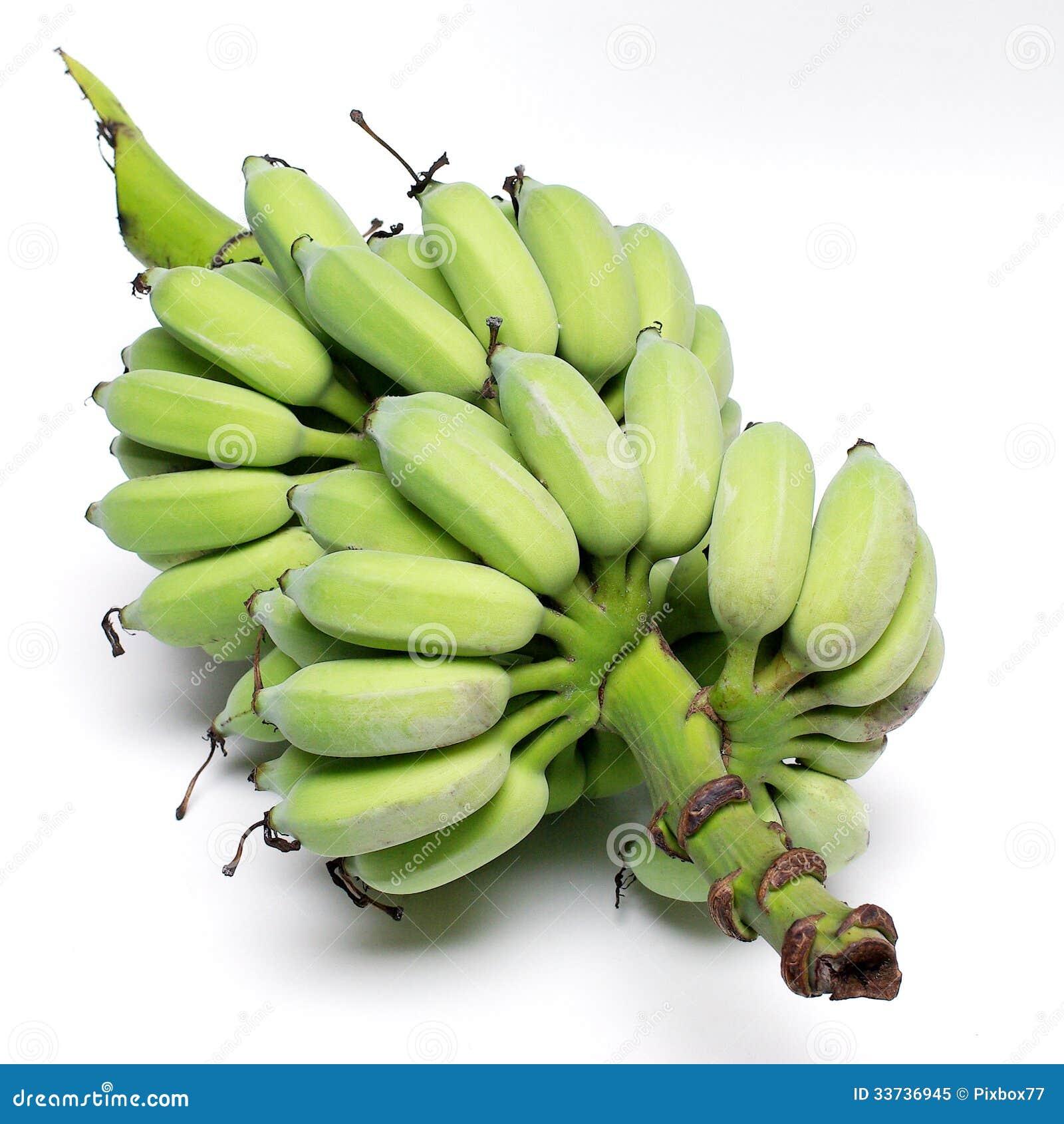 Зеленый банан от органической фермы