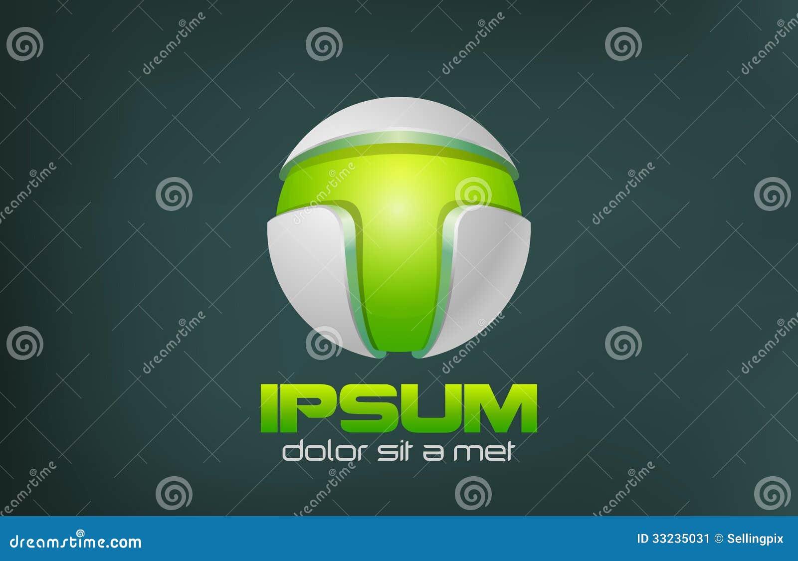 Зеленый дизайн логотипа вектора конспекта технологии. Игра