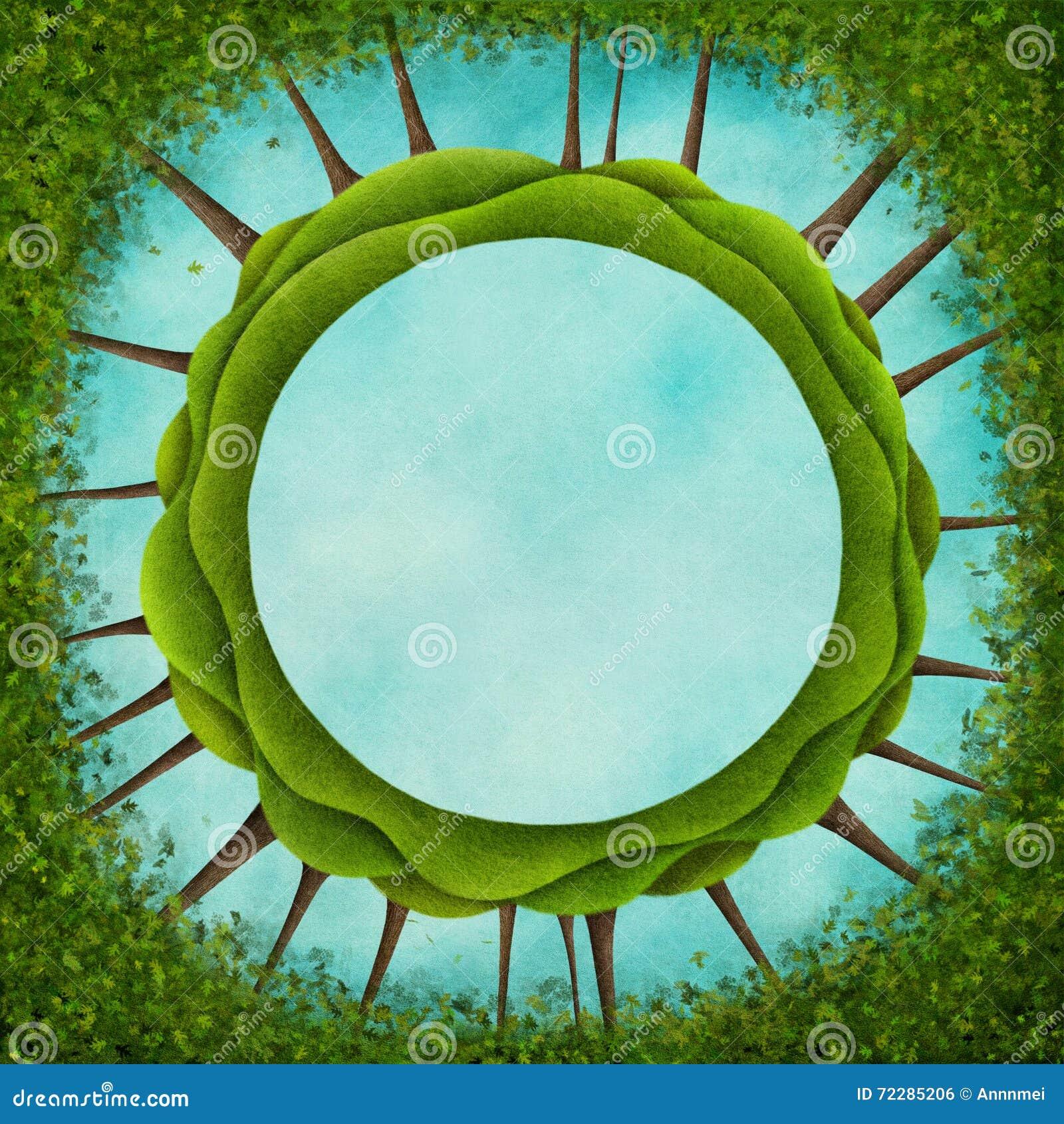 Download Зеленый круг иллюстрация штока. иллюстрации насчитывающей художничества - 72285206