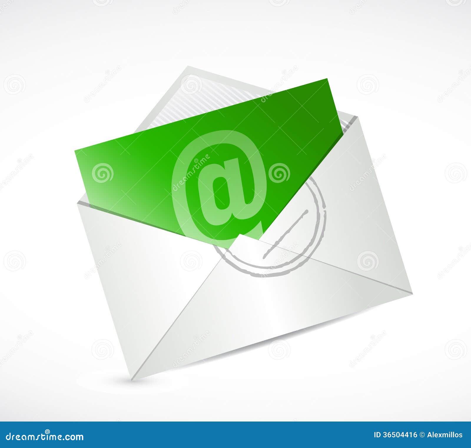 Зеленый свяжитесь мы дизайн иллюстрации электронной почты