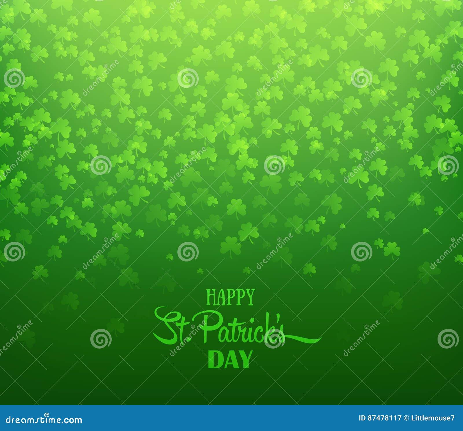 зеленый цвет клеверов предпосылки Ирландский день ` s St. Patrick праздника