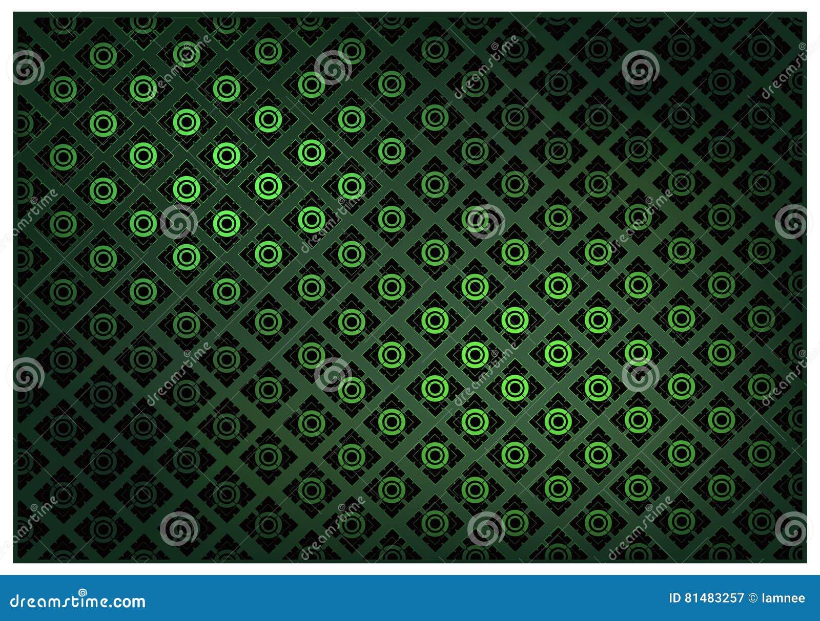 Зеленый цвет тайской винтажной предпосылки картины обоев