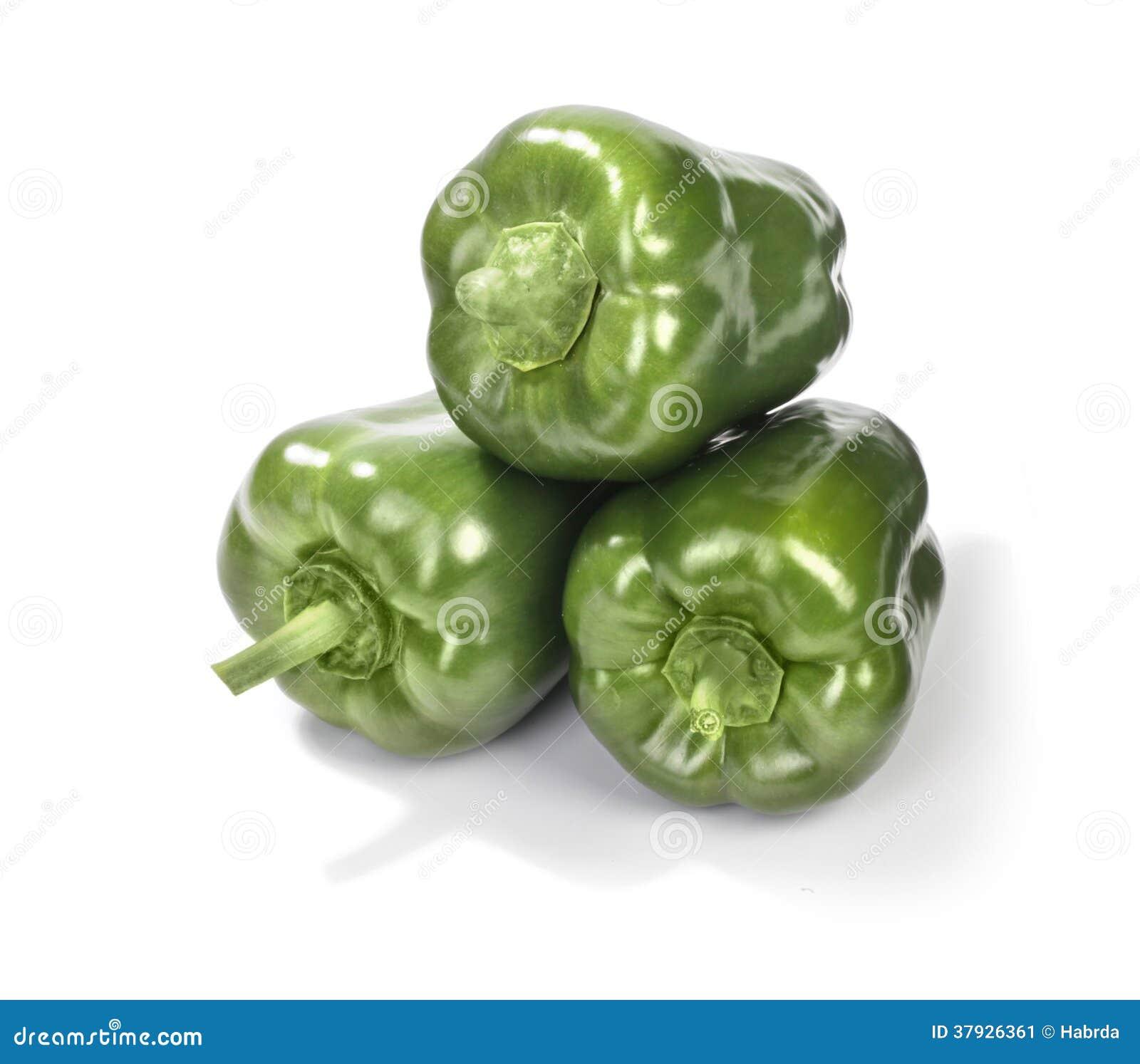 3 зеленых перца
