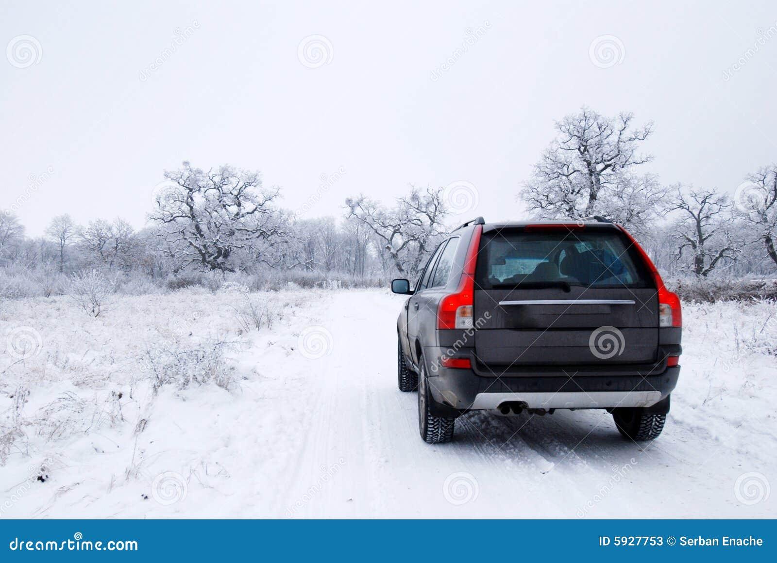 зима автомобиля