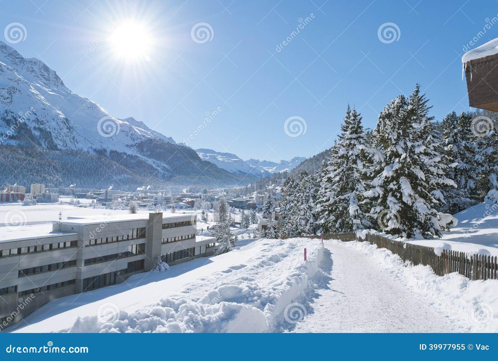 Зима в St Moritz