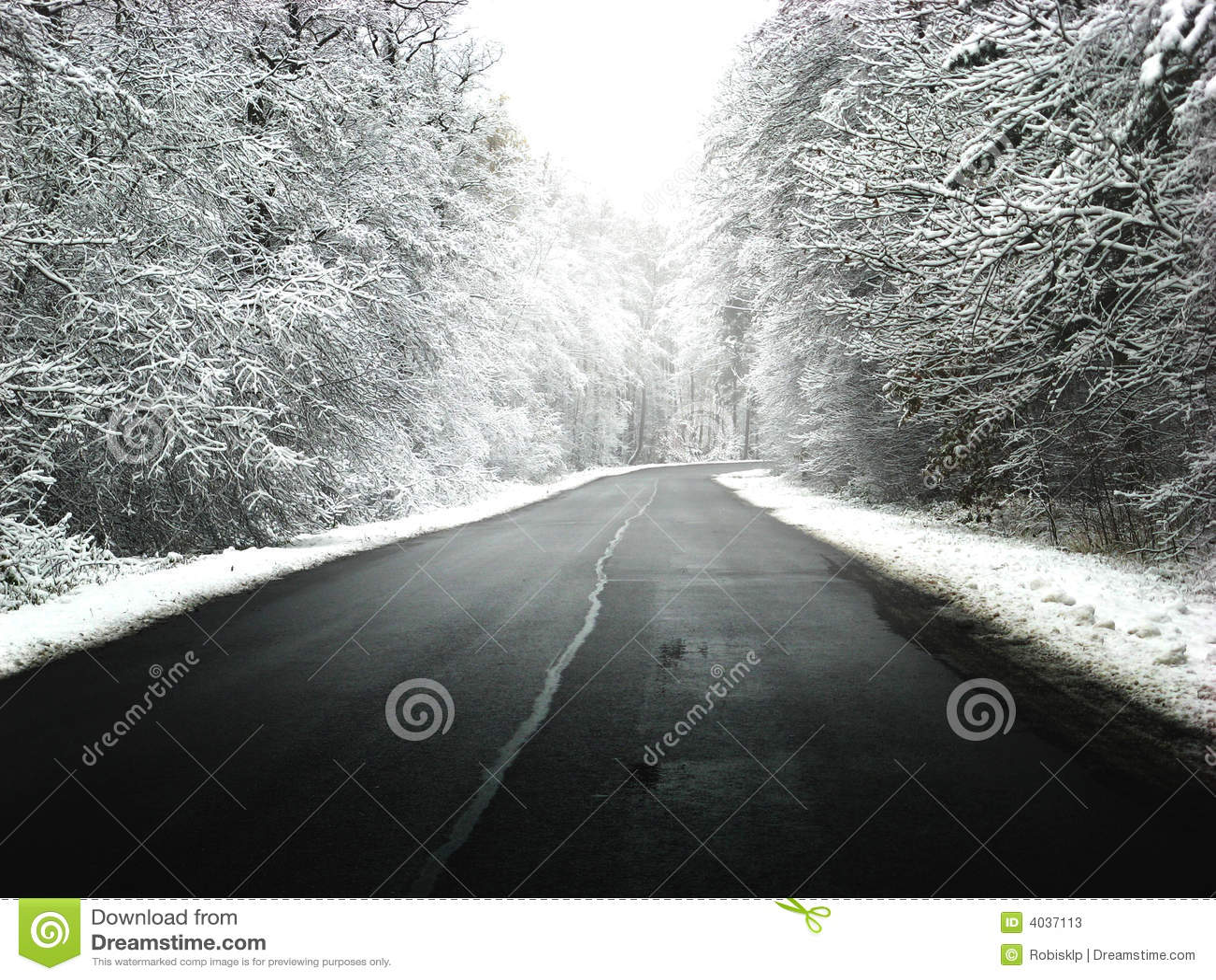 зима дороги