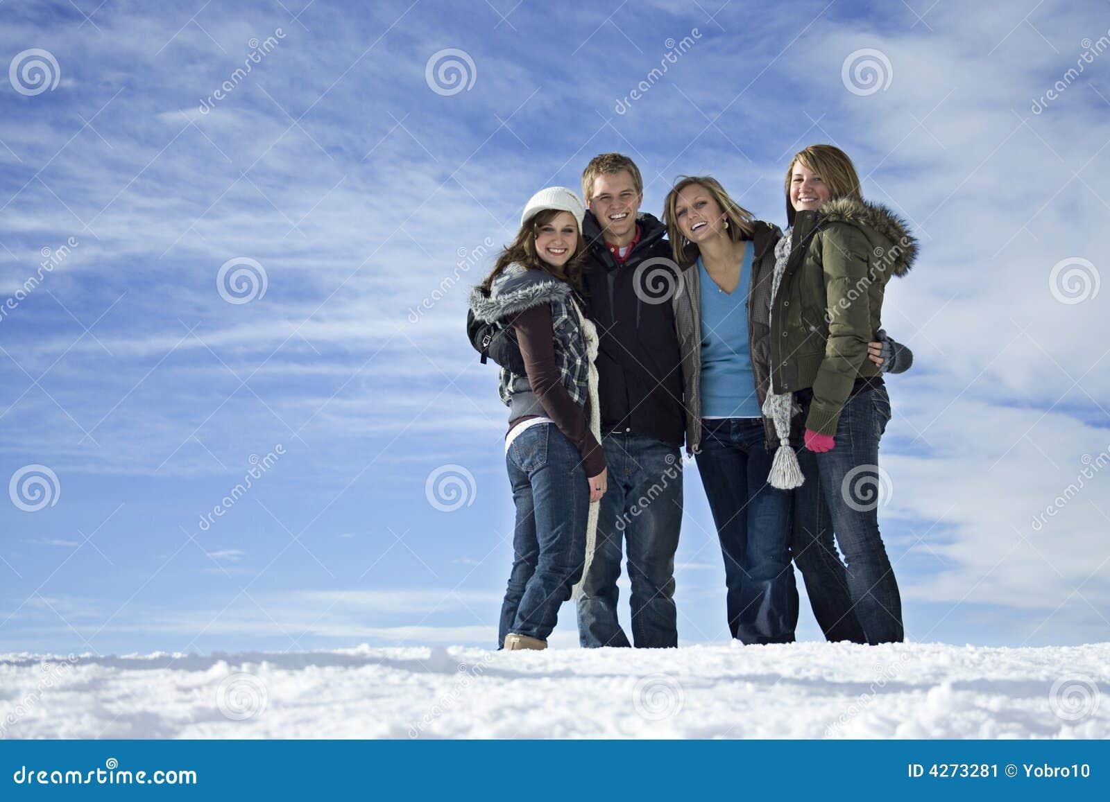зима друзей