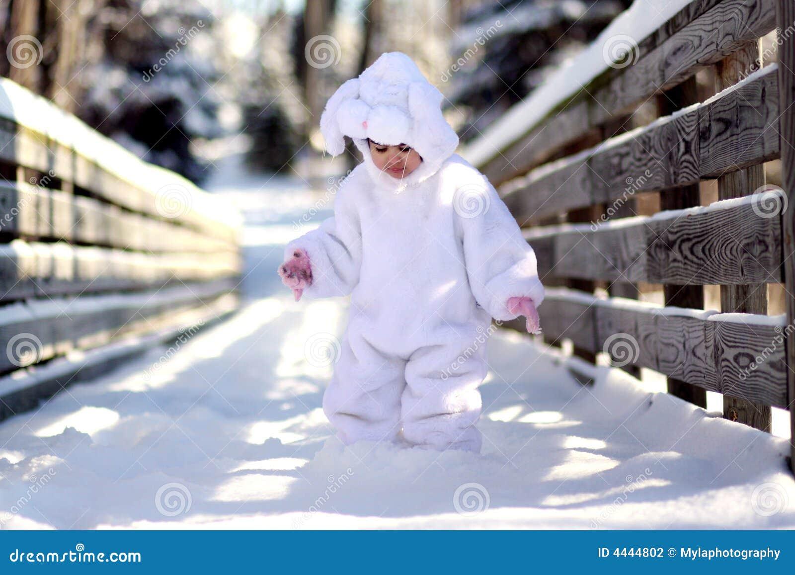 Картинки зайчика зимой