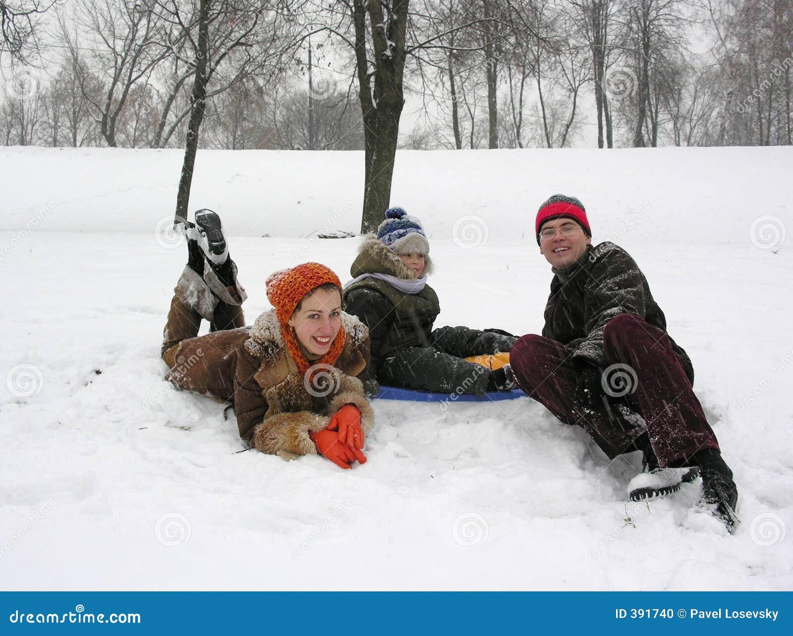 зима семьи