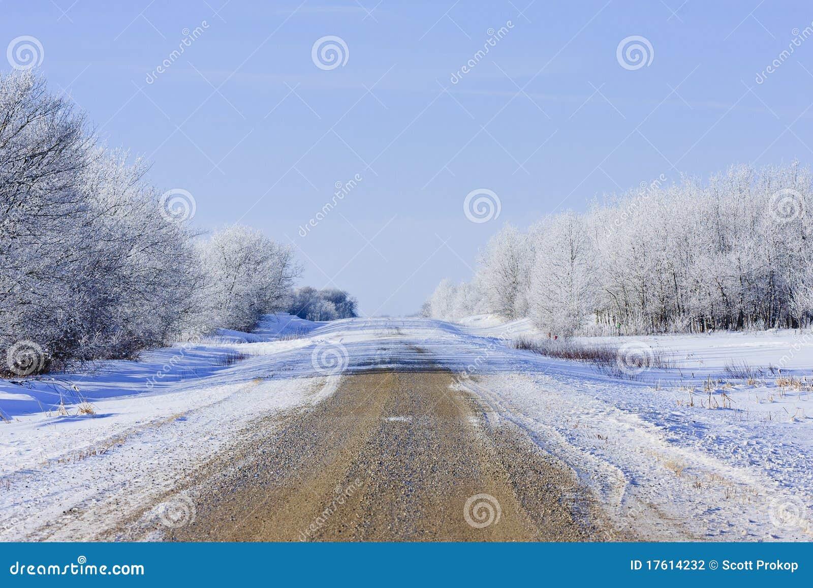 зима холодной дороги снежная