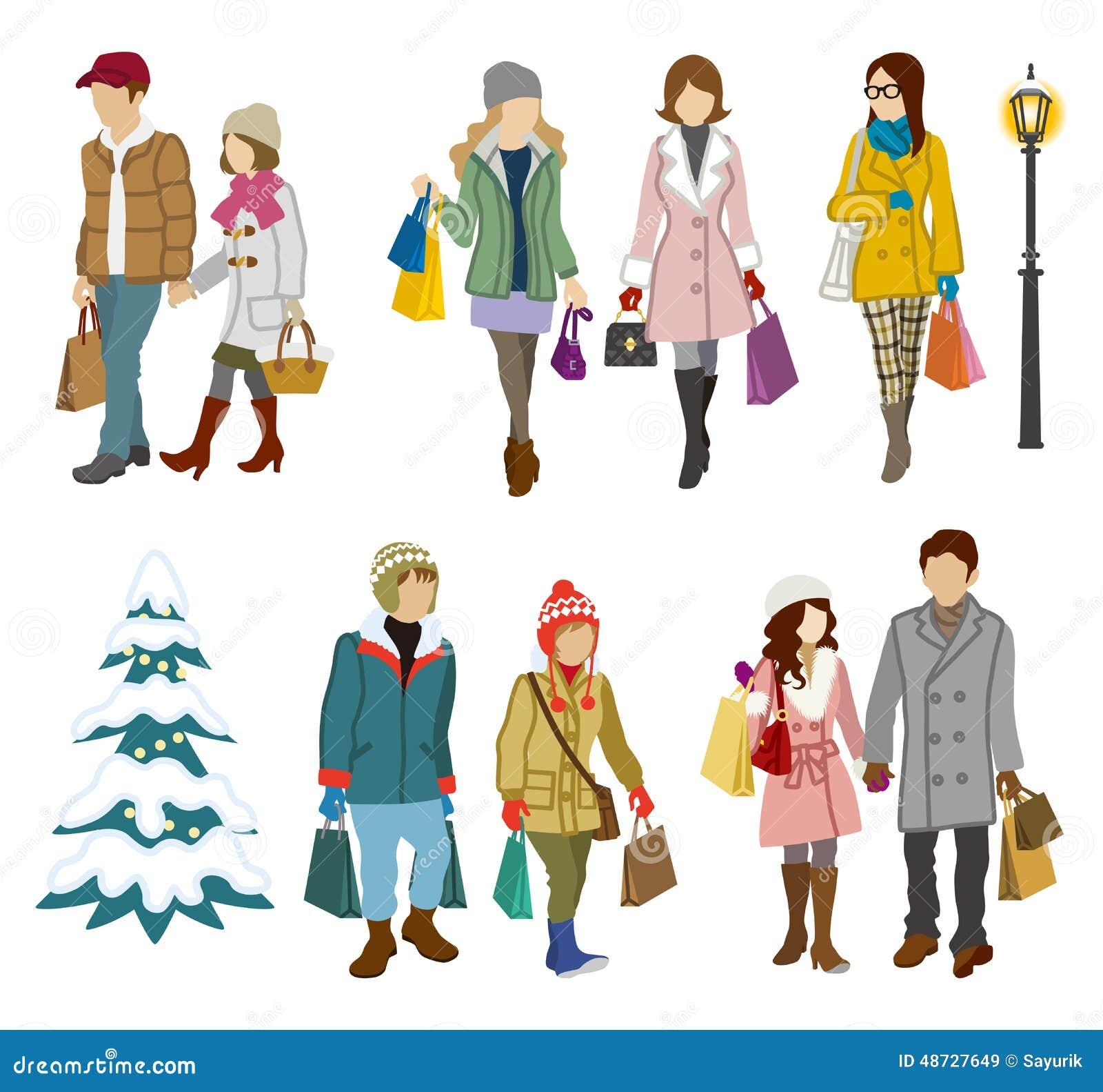 Люди в зимней одежде картинки
