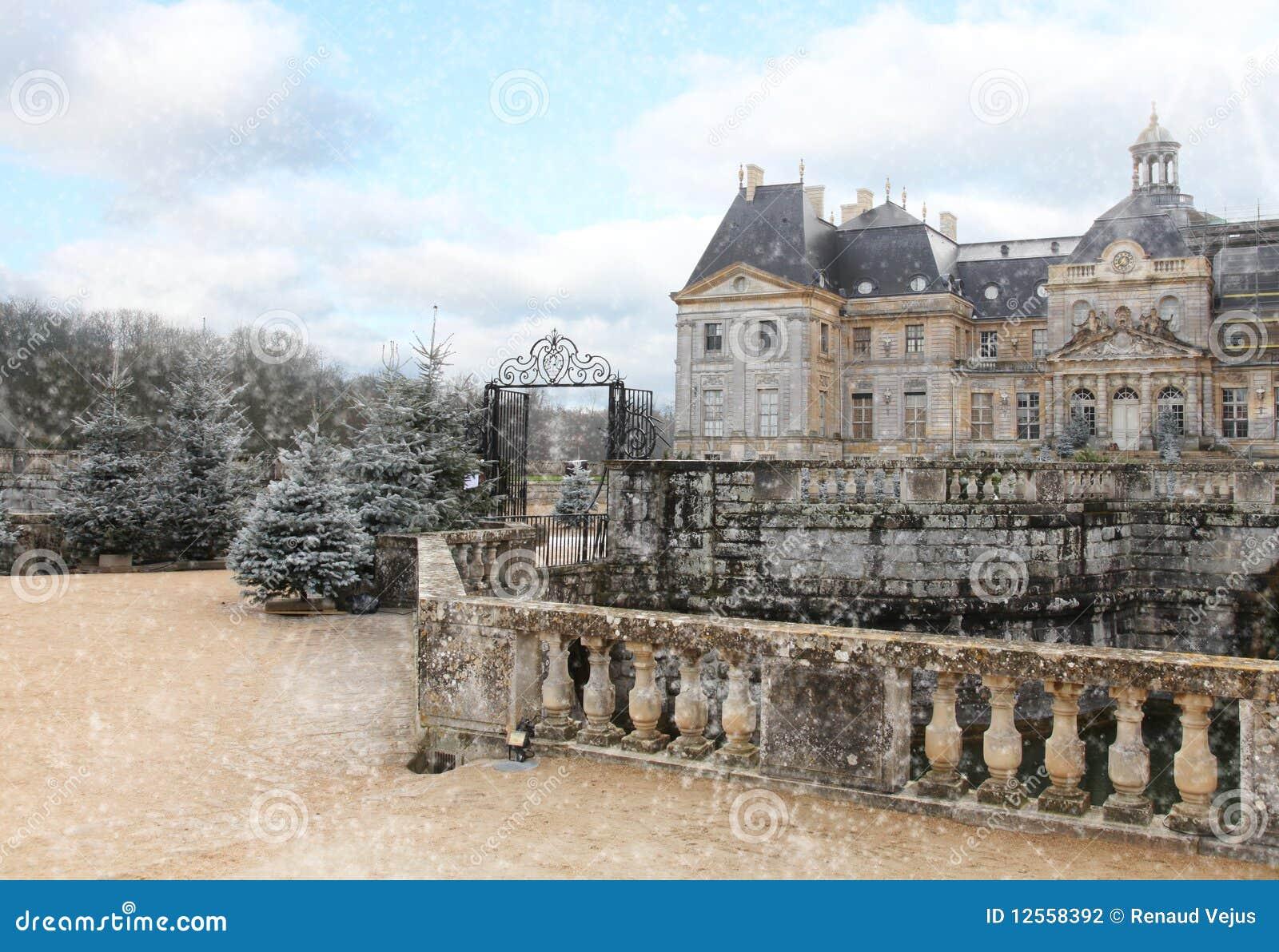 зима vicomte замока le vaux
