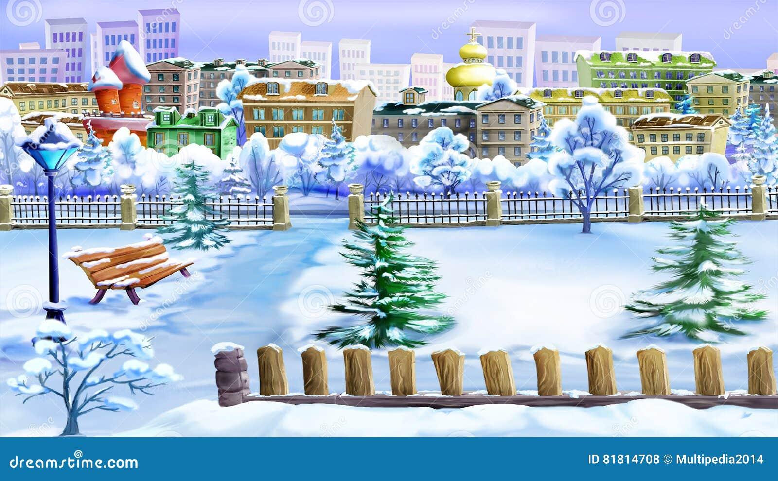 Зимний день в парке
