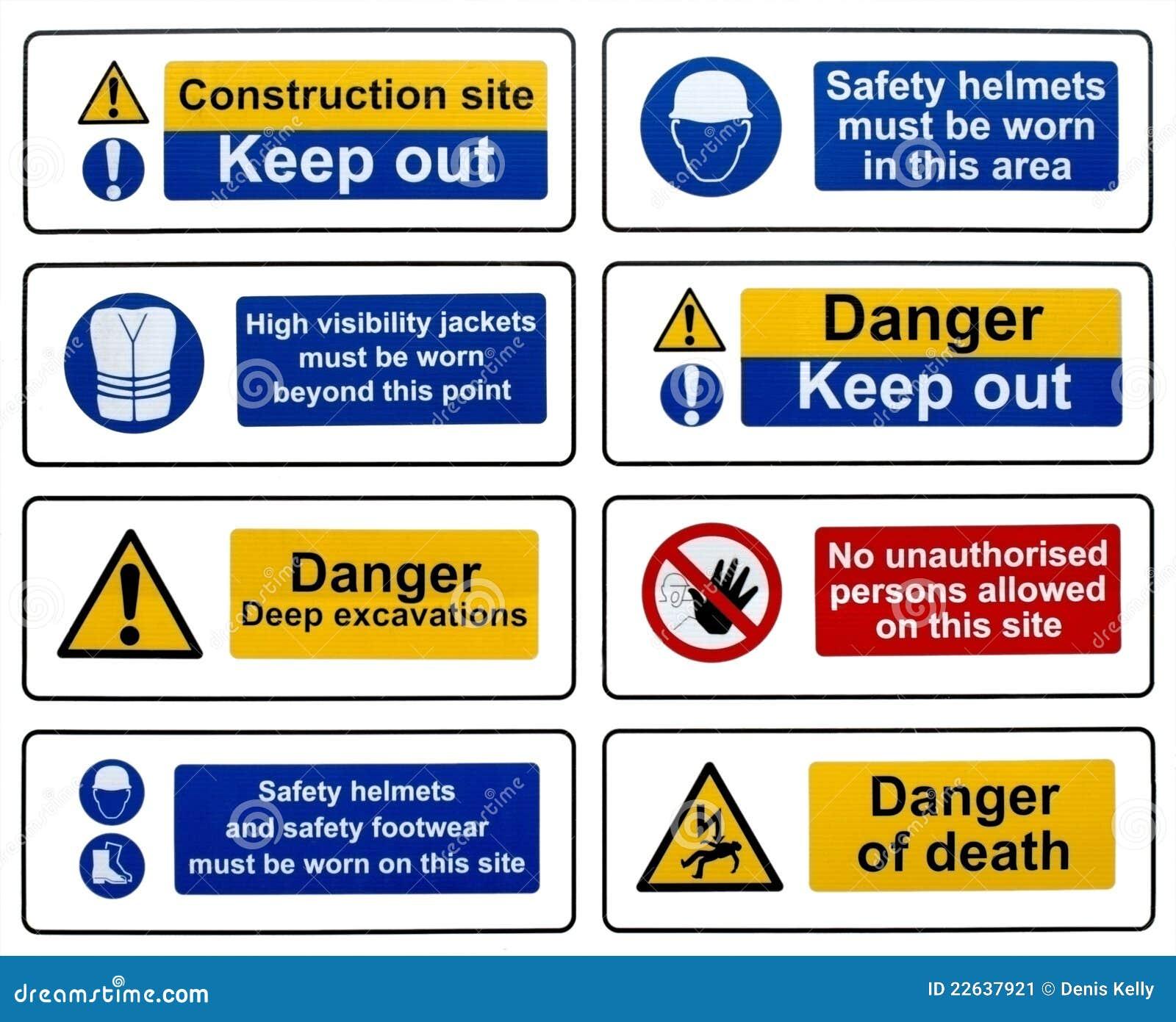 знаки безопасности конструкции