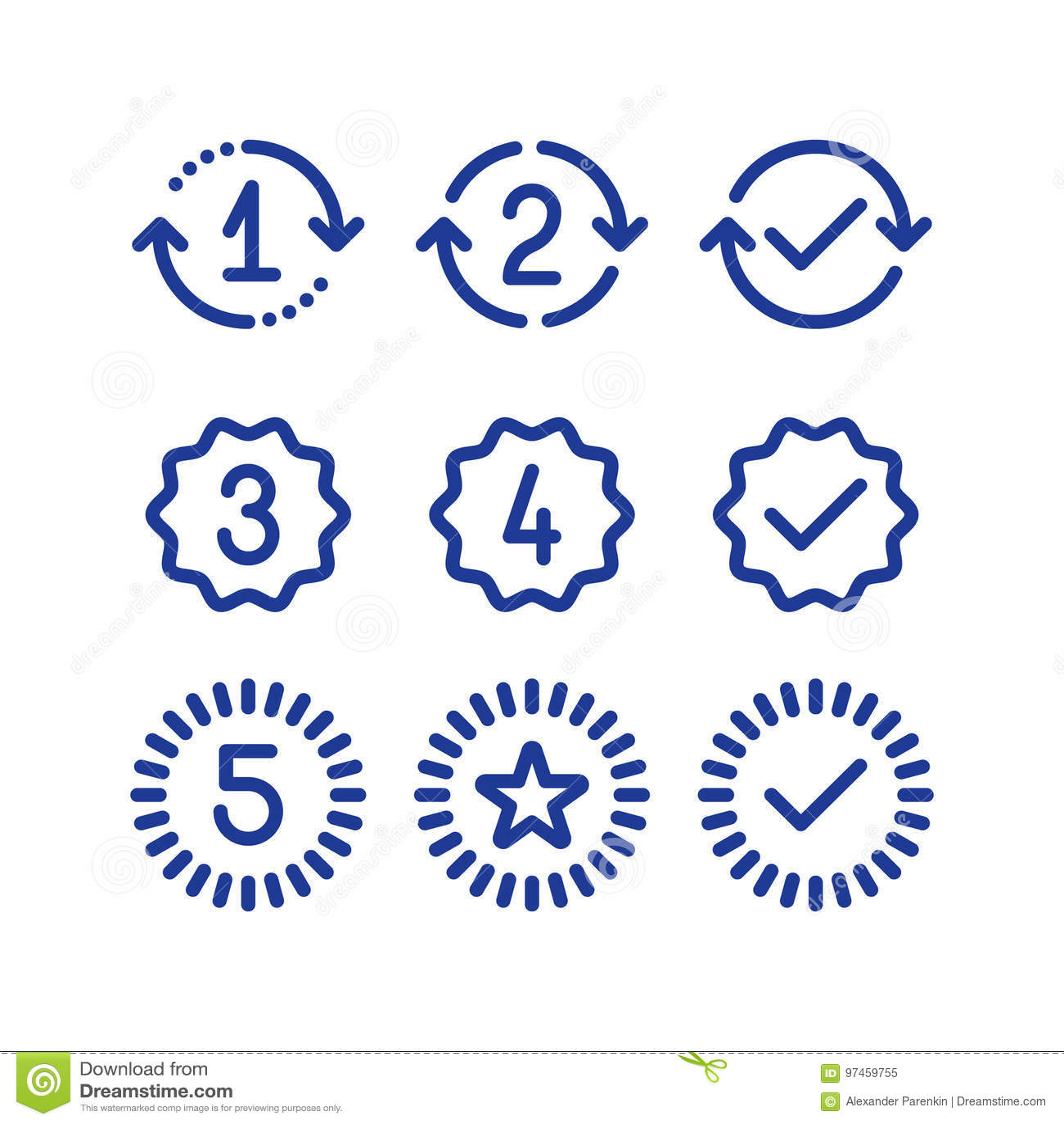 Знаки лет гарантии, период обслуживания гарантии, одобренная метка, линия значки