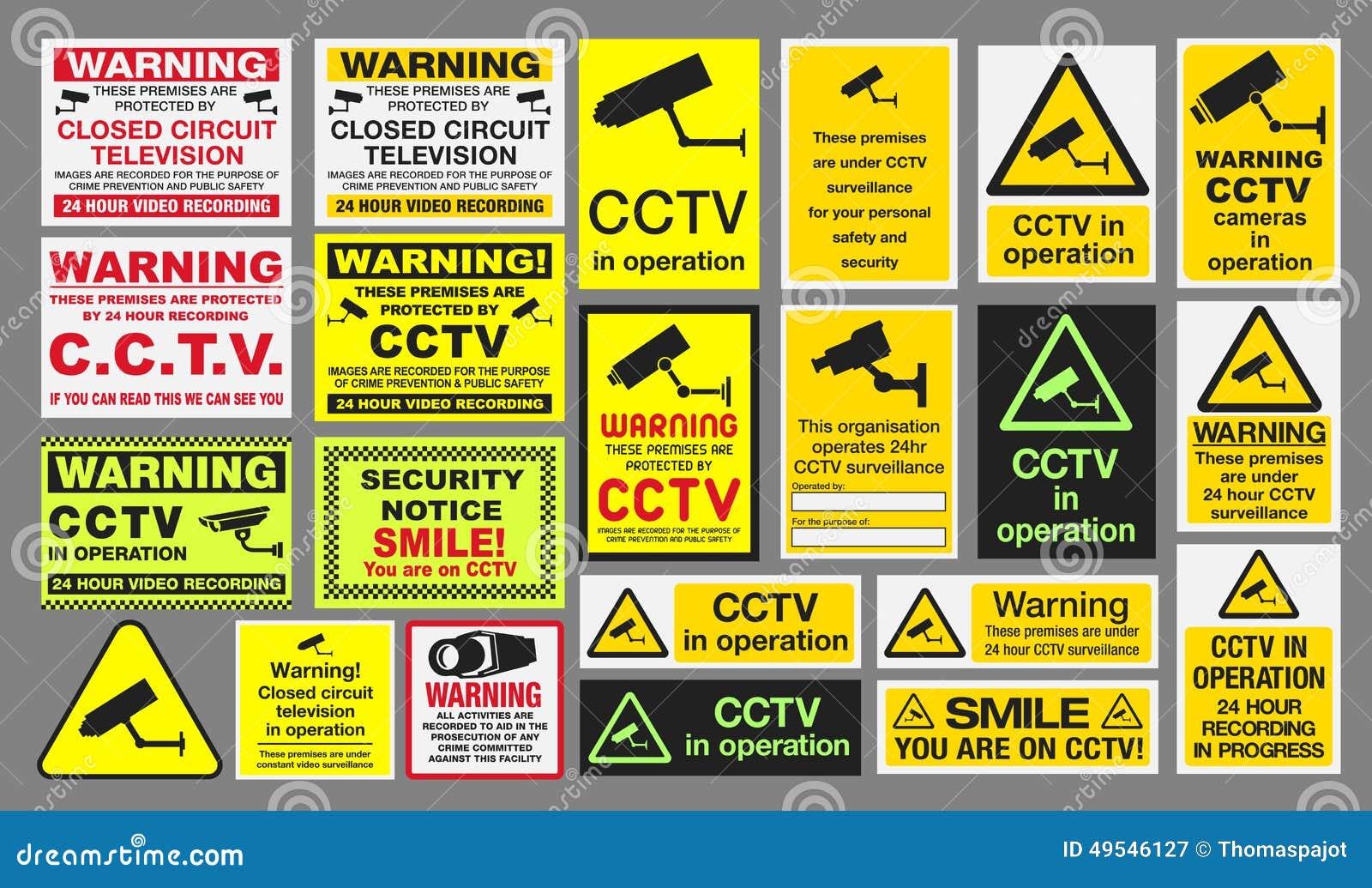 Знаки CCTV