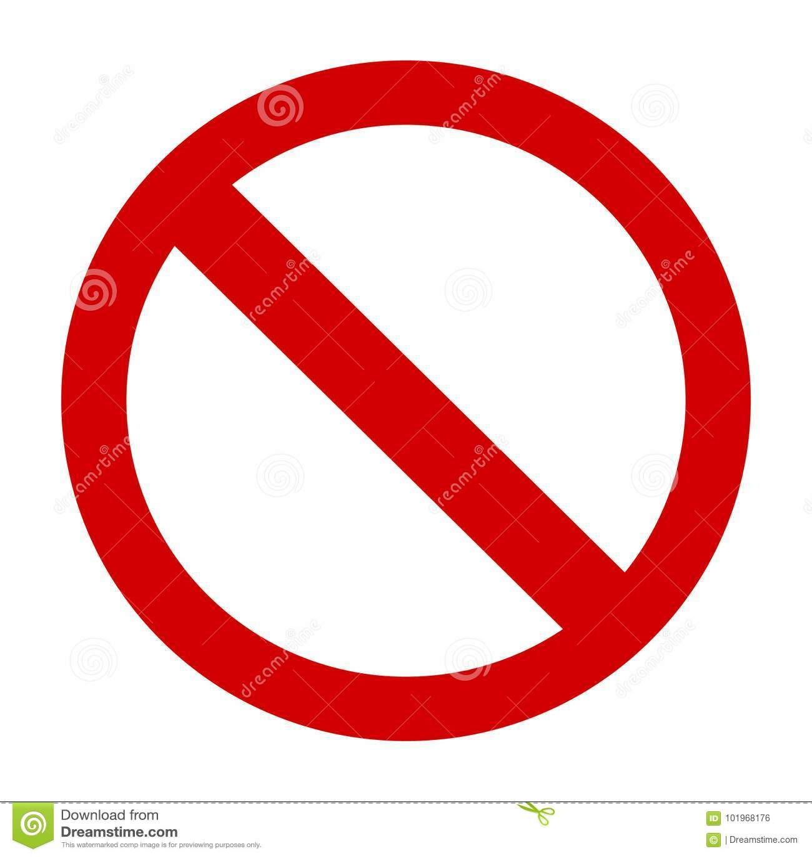 Знак запрета или отсутствие вектор значка знака простые