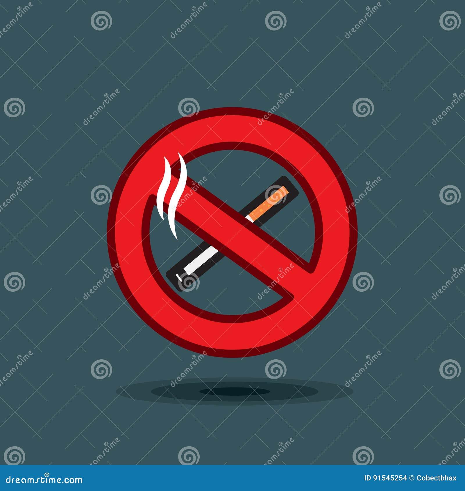 Знак значка вектора для некурящих на темной предпосылке