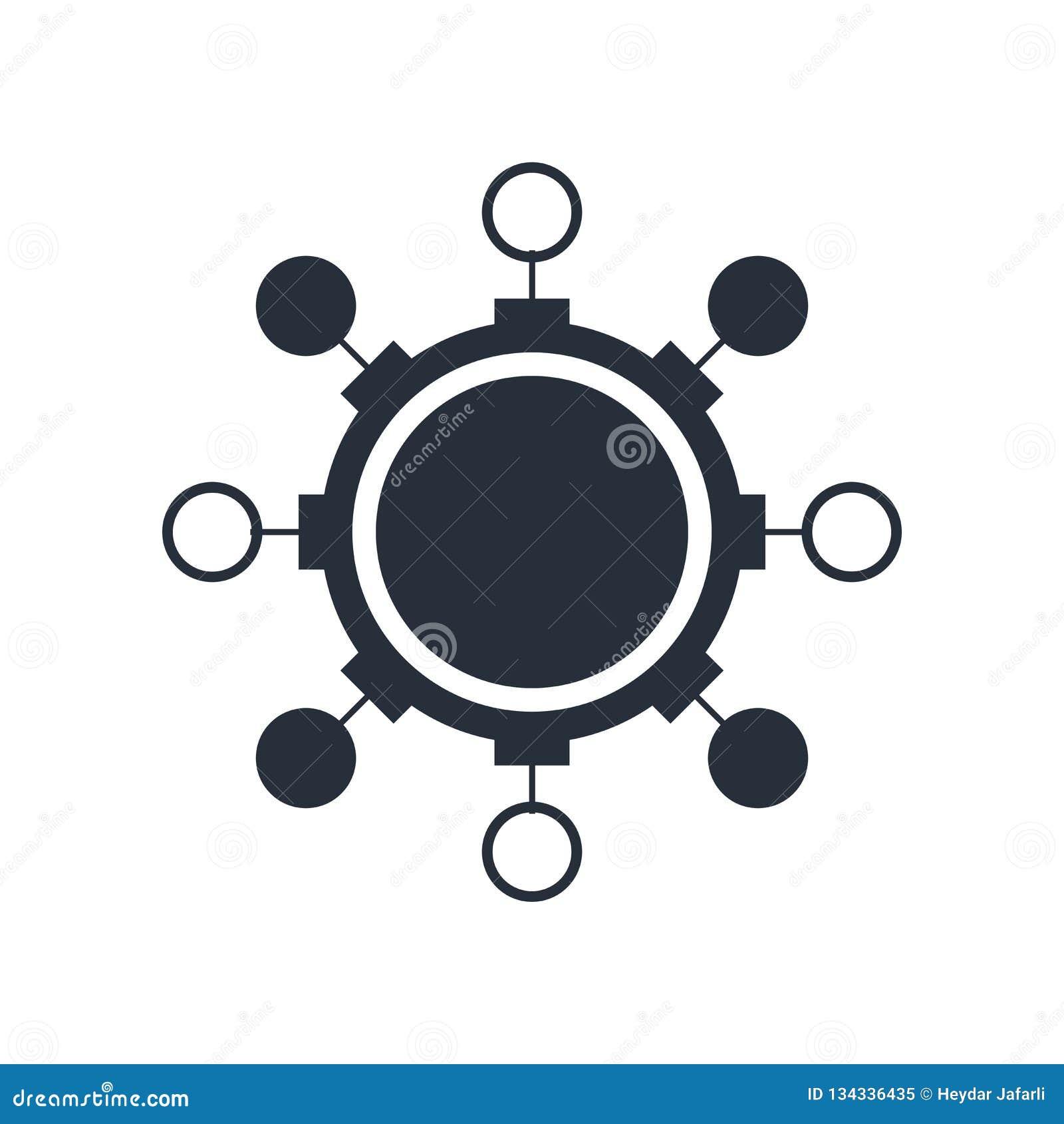 Знак и символ вектора значка алгоритма изолированные на белой предпосылке, концепции логотипа алгоритма