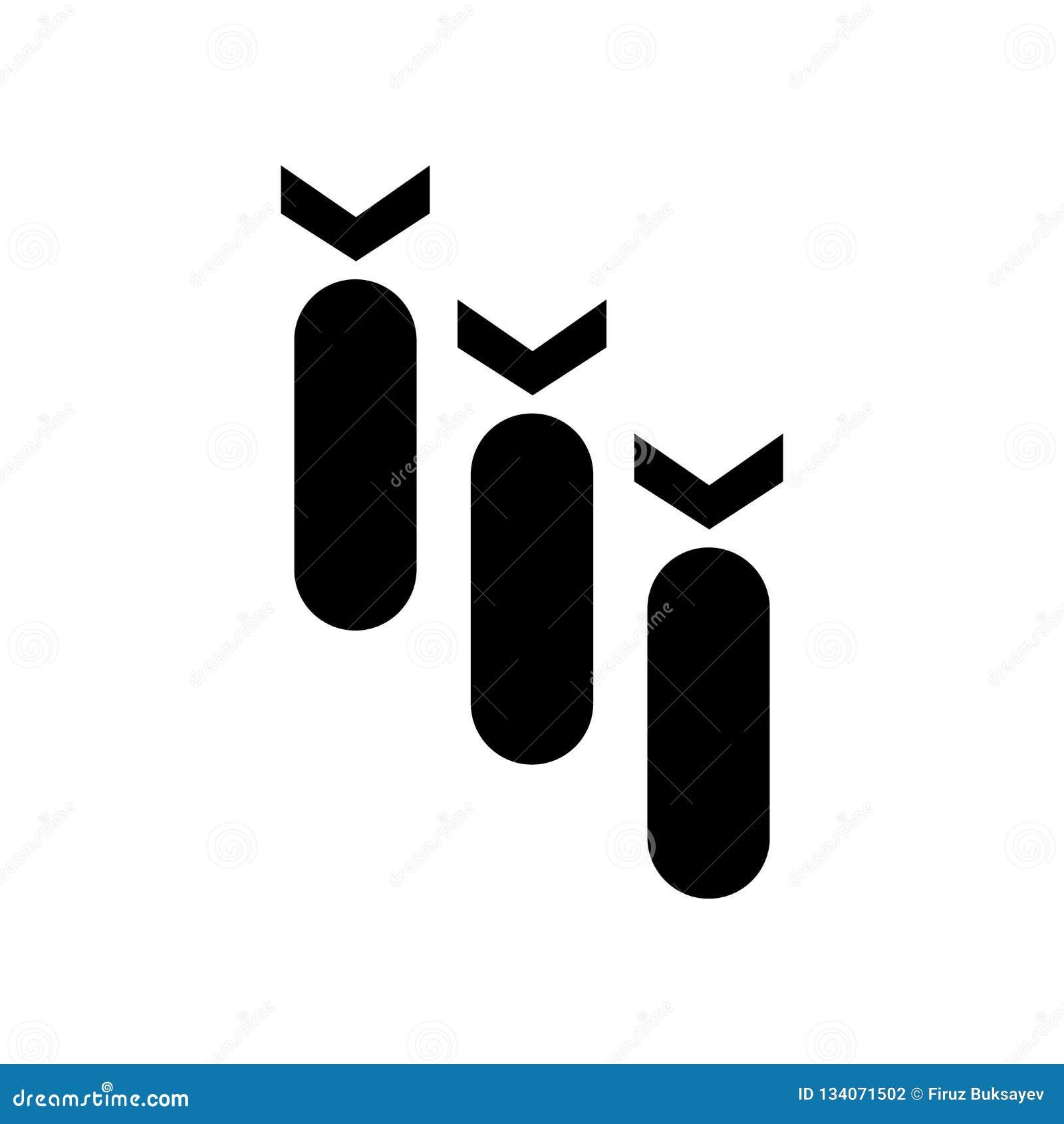 Знак и символ вектора значка бомб изолированные на белой предпосылке, взрывают концепцию логотипа