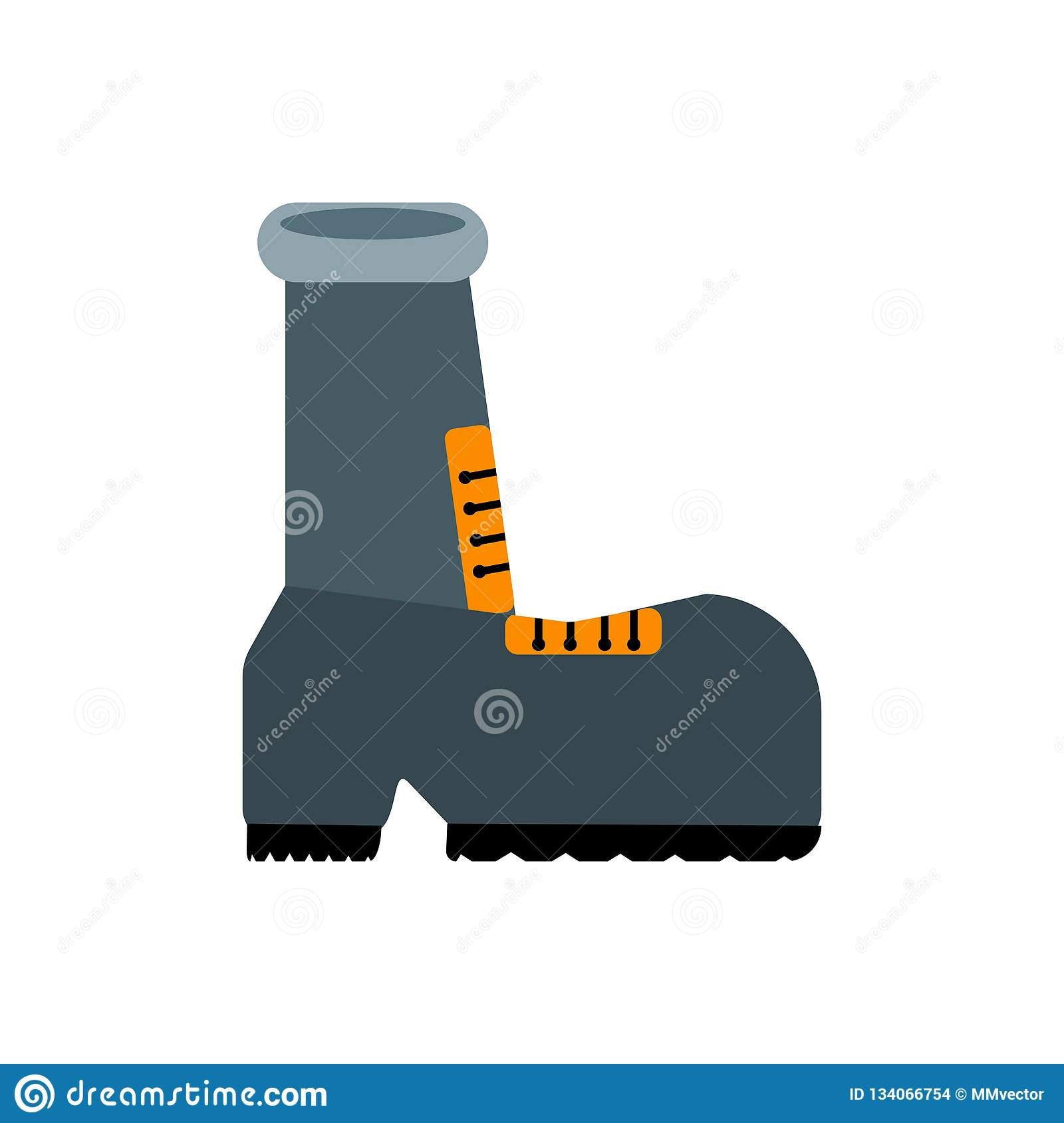 Знак и символ вектора значка ботинка изолированные на белой предпосылке, концепции логотипа ботинка