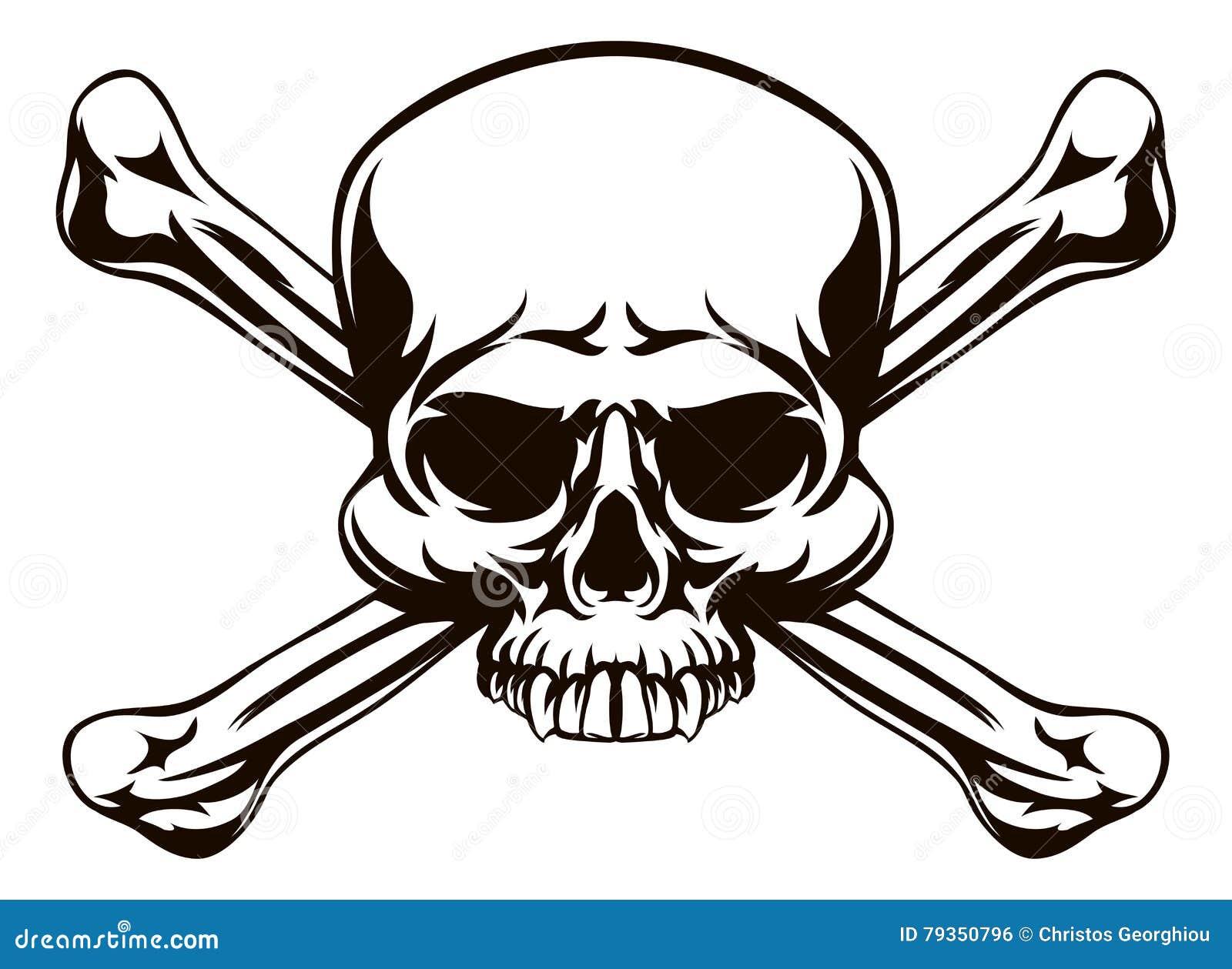 Знак косточек черепа и креста