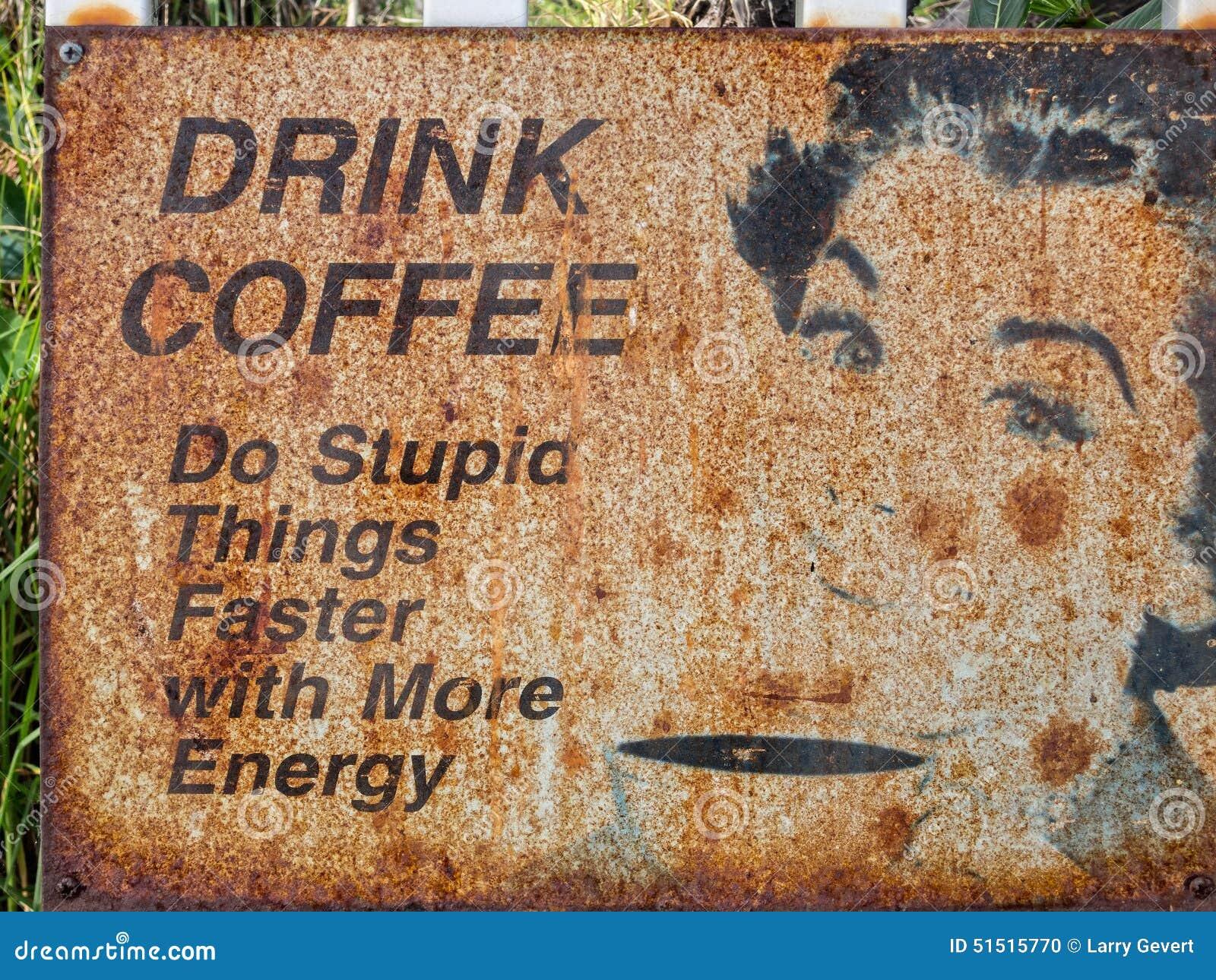 Знак кофе питья