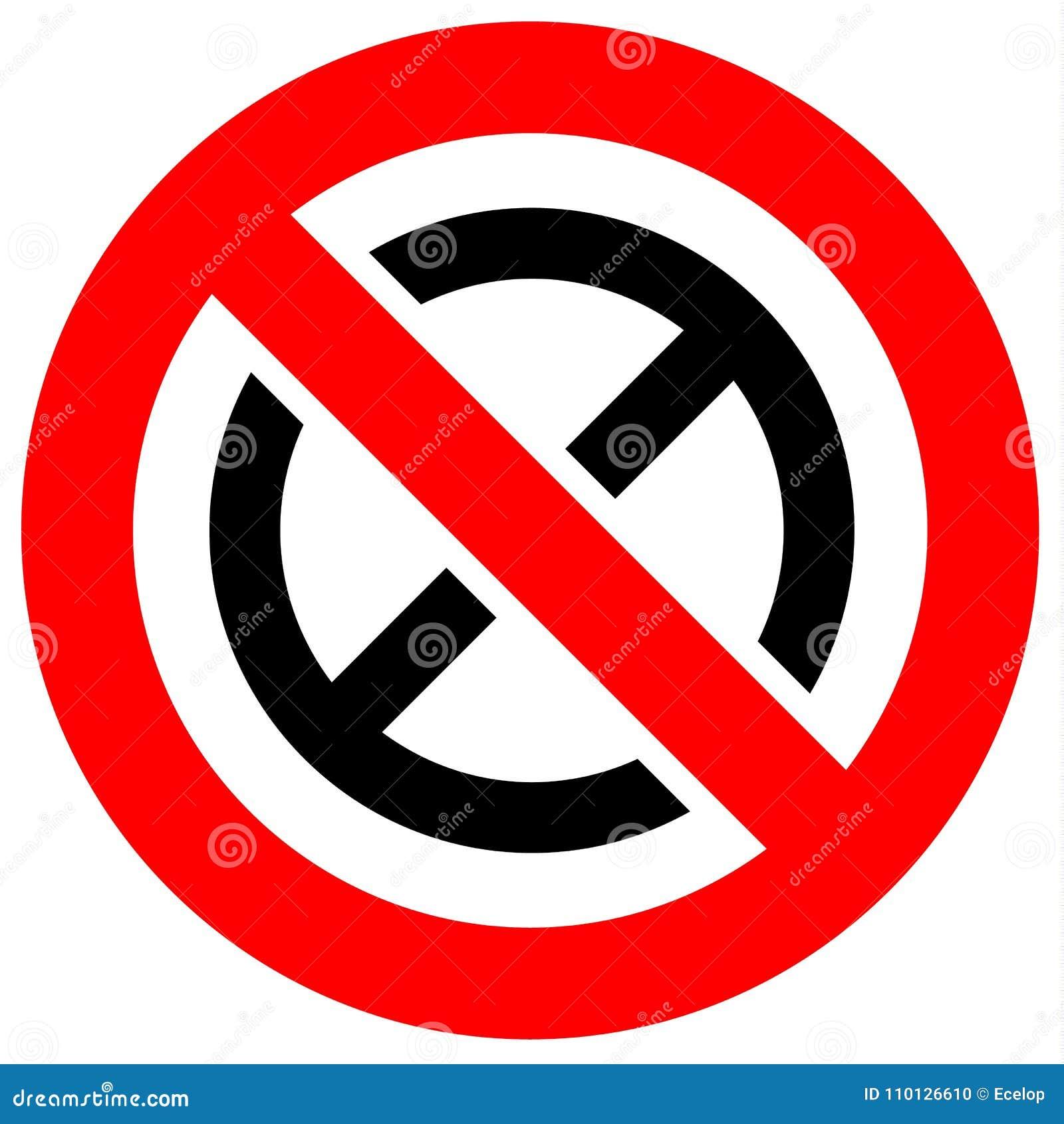 Знак красного цвета запрета
