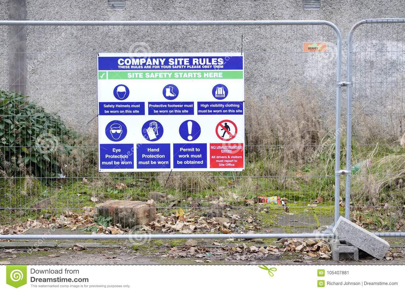 Знак места работы здоровья и безопасности на строительной площадке конструкции