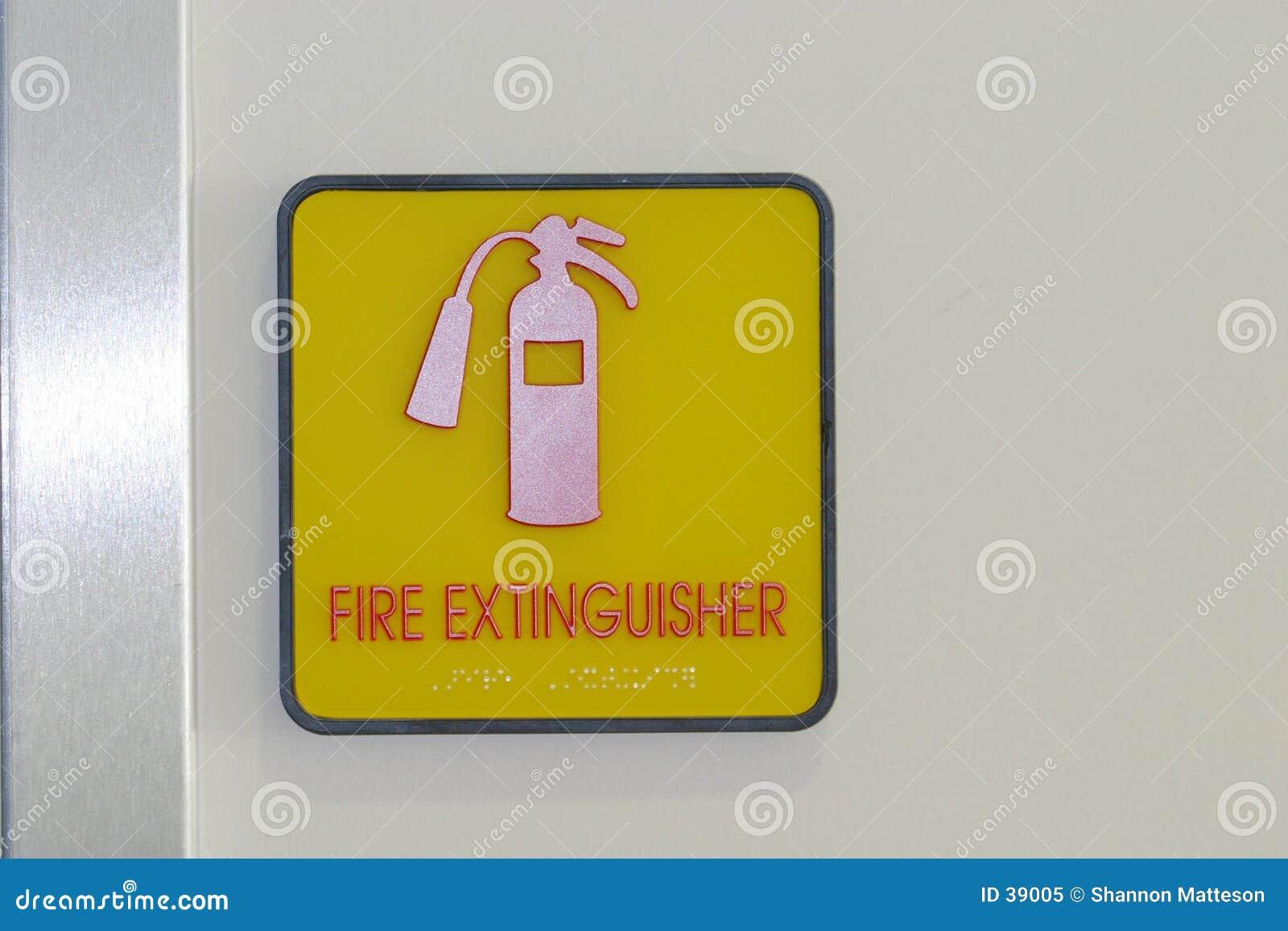 знак пожара гасителя