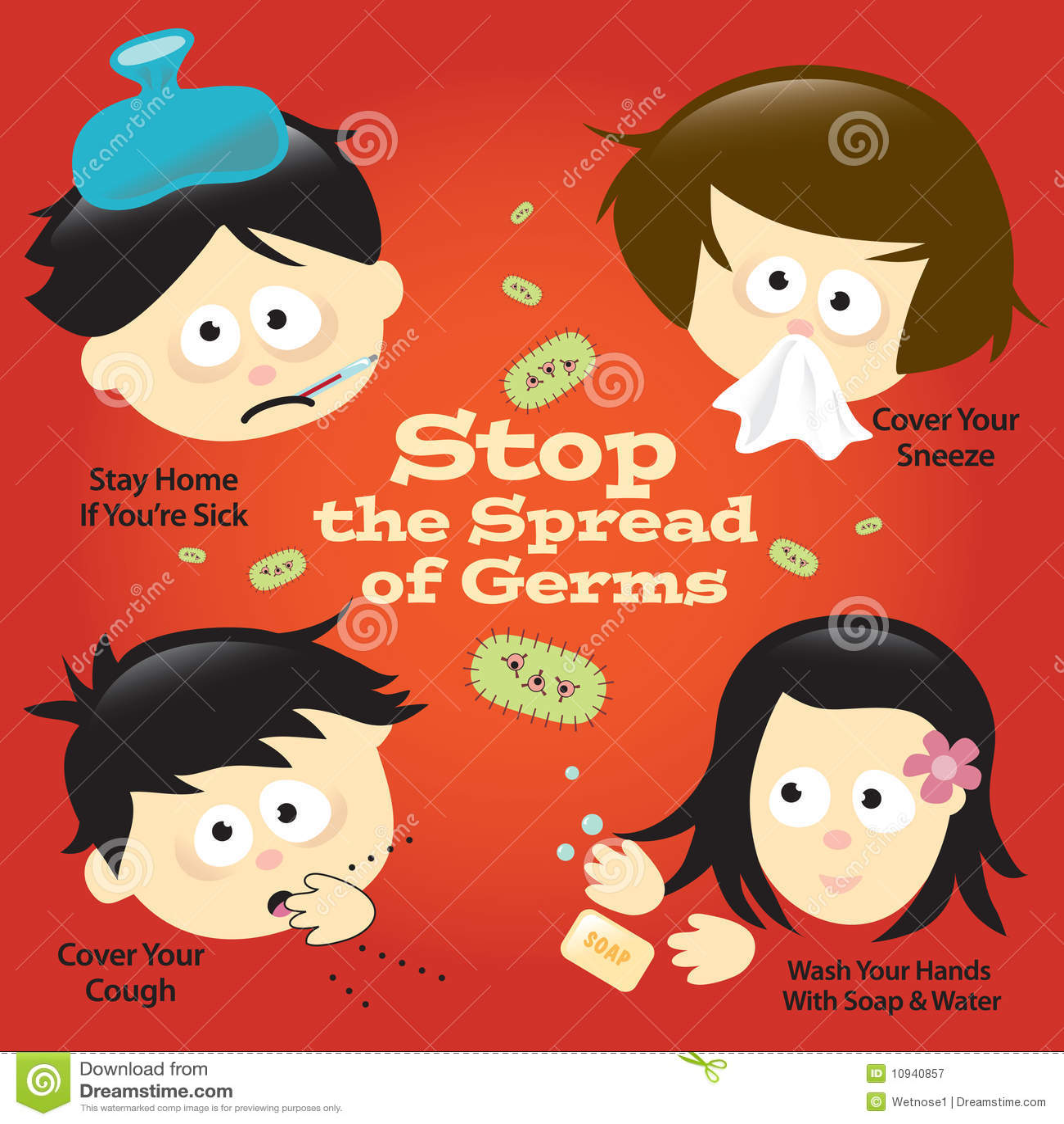 знак предохранения плаката гриппа