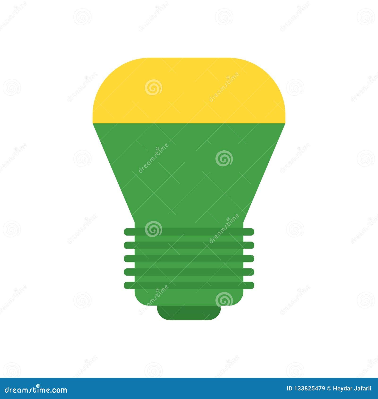 Знак приведенный и символ вектора значка лампы изолированные на белой предпосылке, концепции приведенной логотипа лампы
