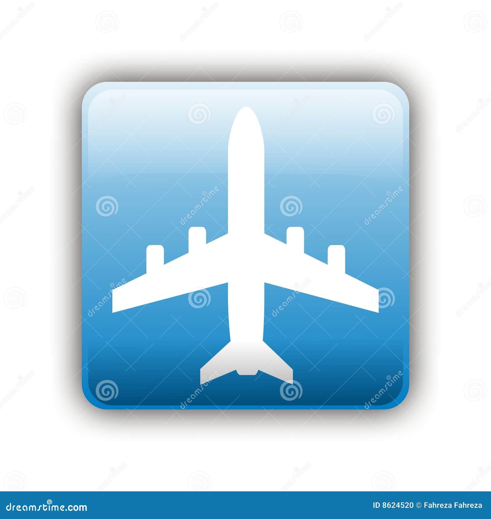 Значок самолет в статус