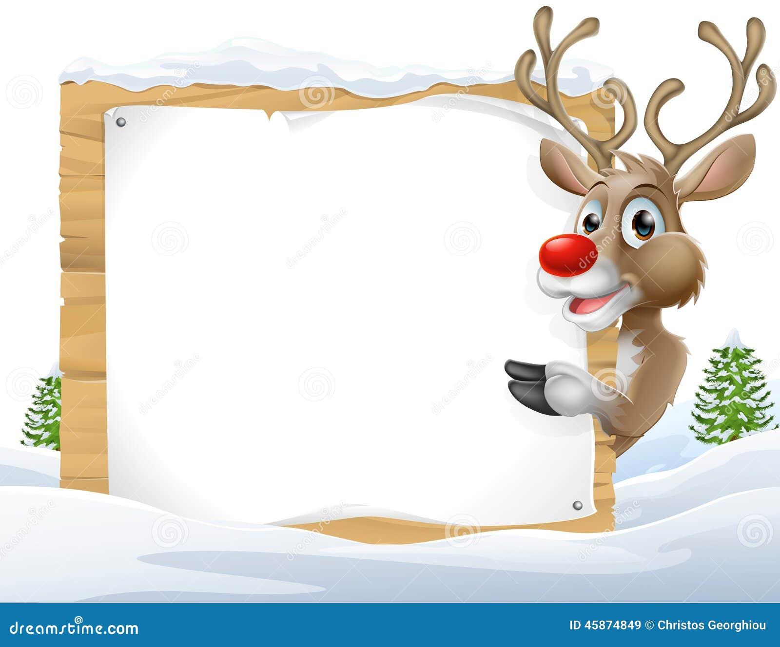 Знак северного оленя рождества
