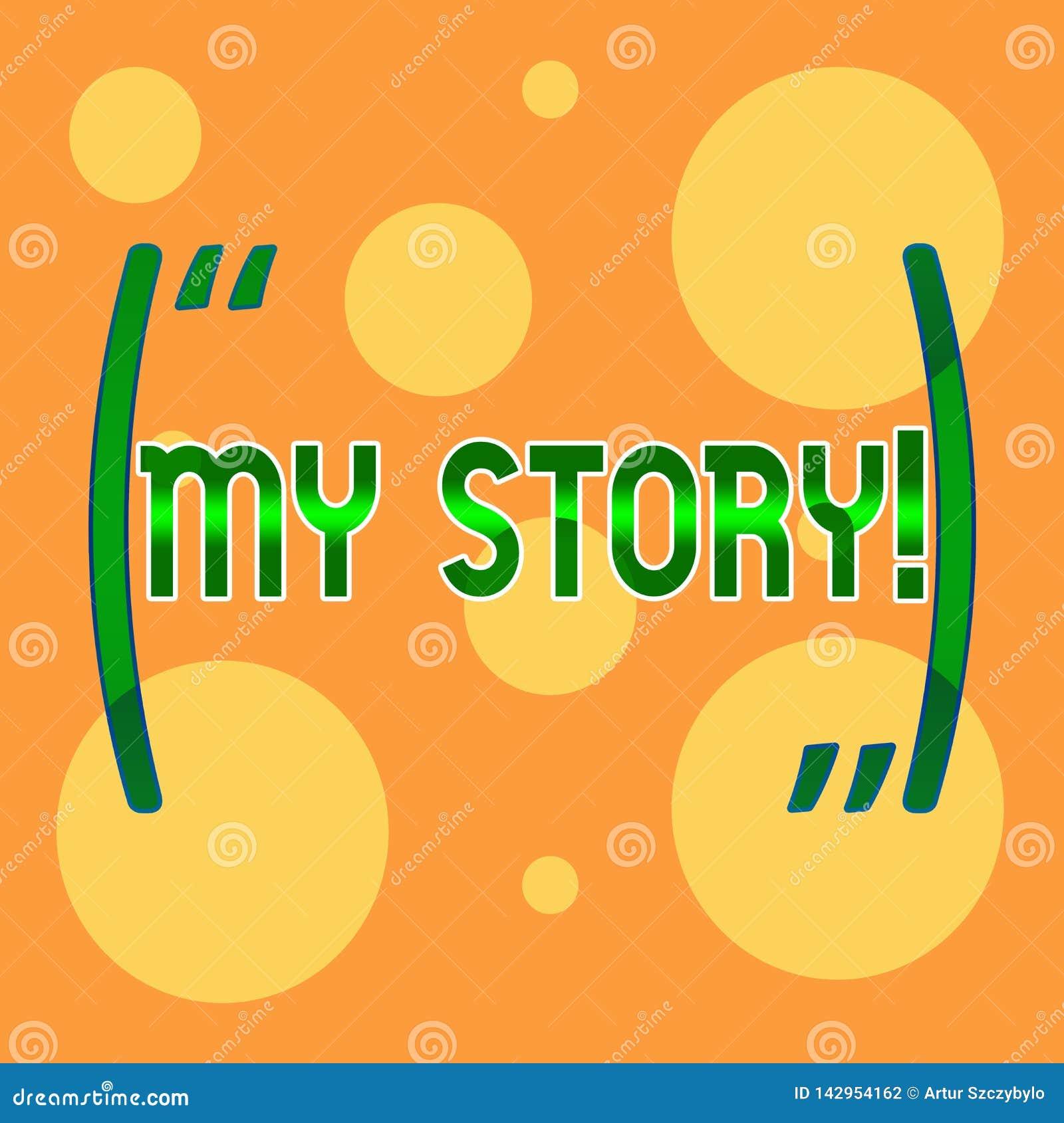Знак текста показывая мой рассказ Схематическое фото ваши прошлые карьера или выборы действий событий в жизни вы делали различный