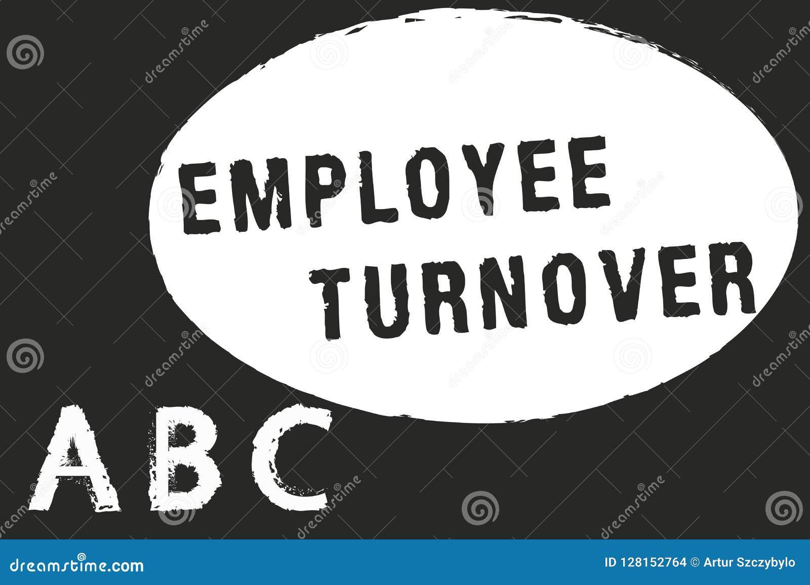 Знак текста показывая оборачиваемость работника Схематические номер фото или процент работников которые выходят организация