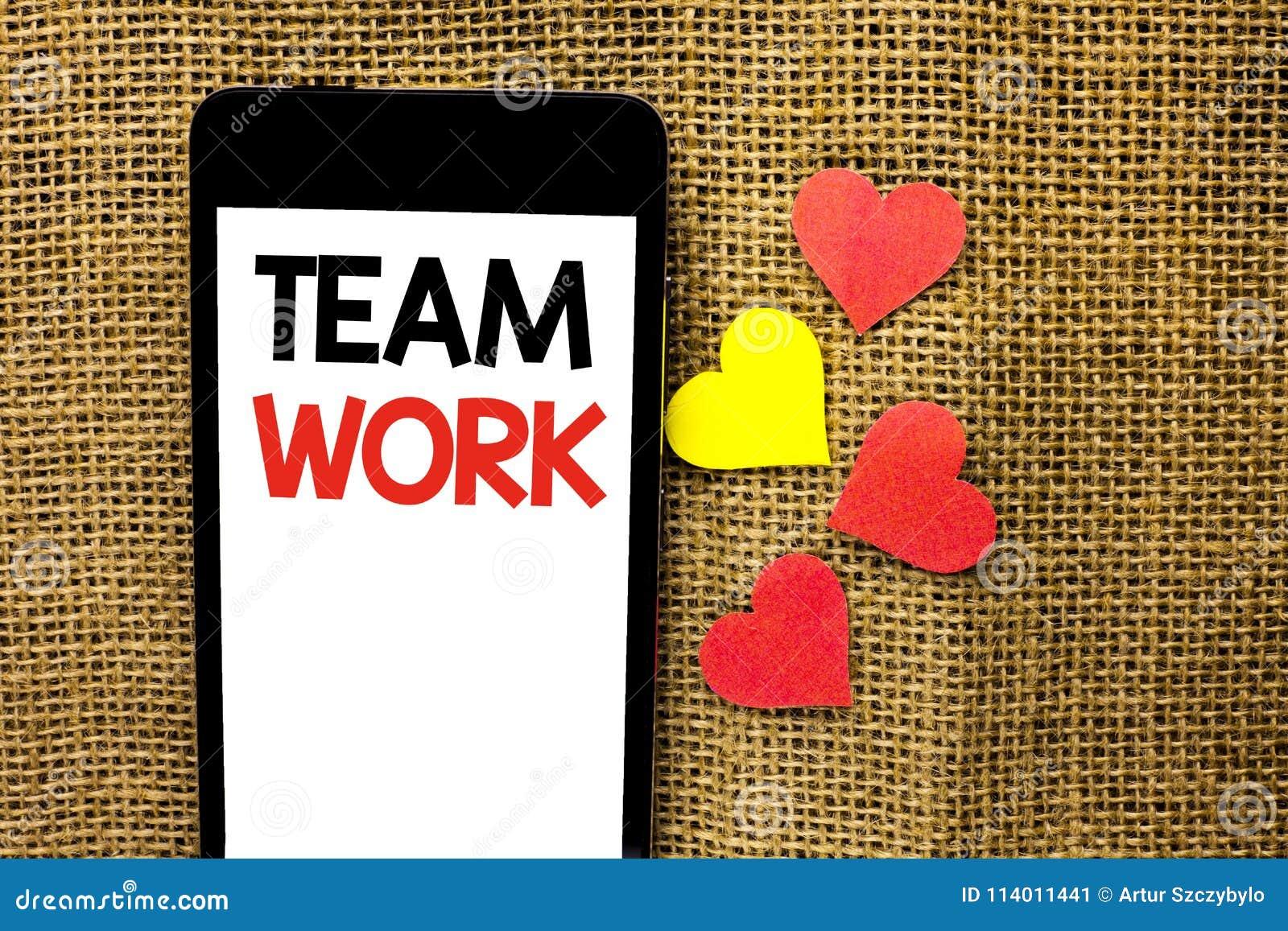 Знак текста показывая работу команды Схематическое фото сотрудничества сотрудничество единства достижения коллективной работы сов