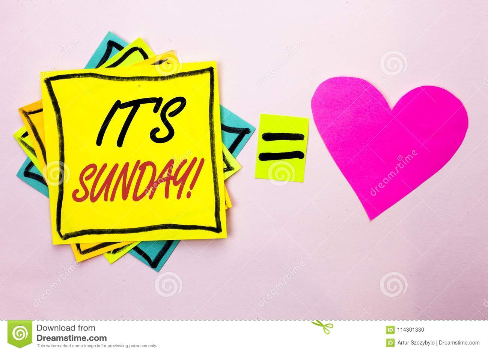 Знак текста показывая свой звонок воскресенья Схематическое фото ослабляет наслаждается ослаблять дня отдыха каникул выходных пра