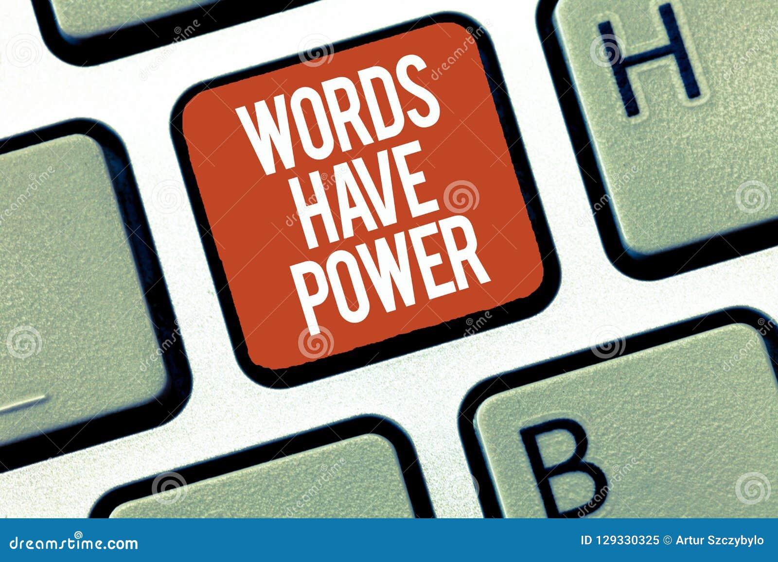 Знак текста показывая слова имеет силу Схематическая способность энергии фото излечить всепокорное помешанное помощью и унижать