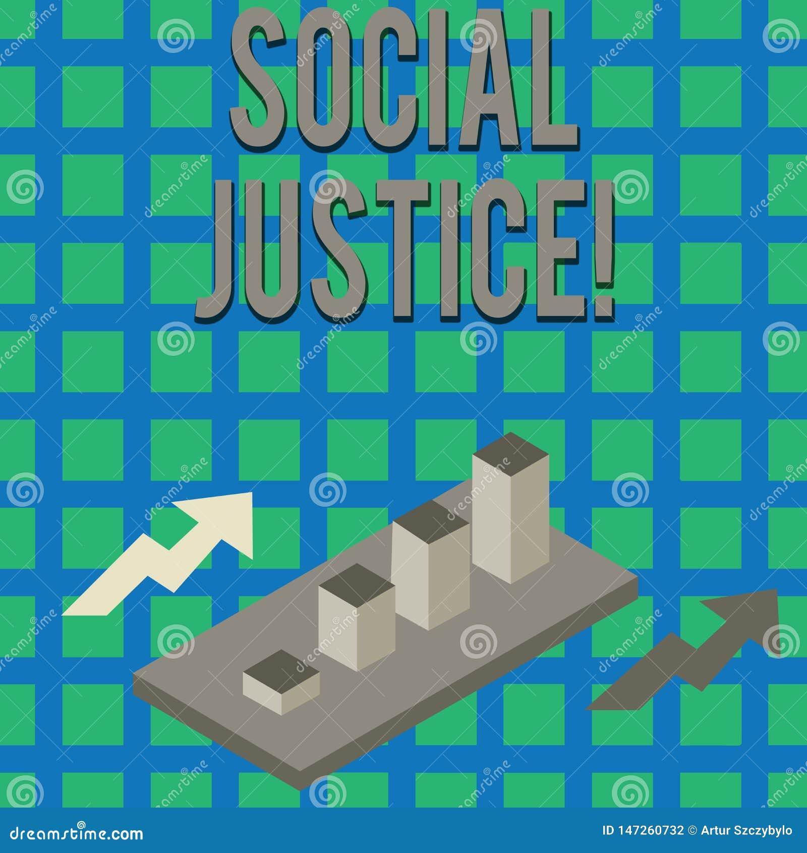 Знак текста показывая социальную справедливость Доступ схематического фото равный к богатству и привилегиям внутри общество красо