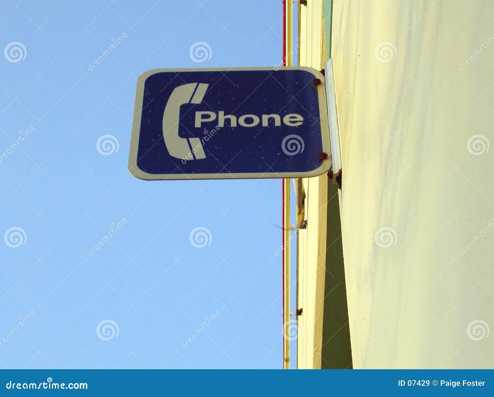 знак телефона
