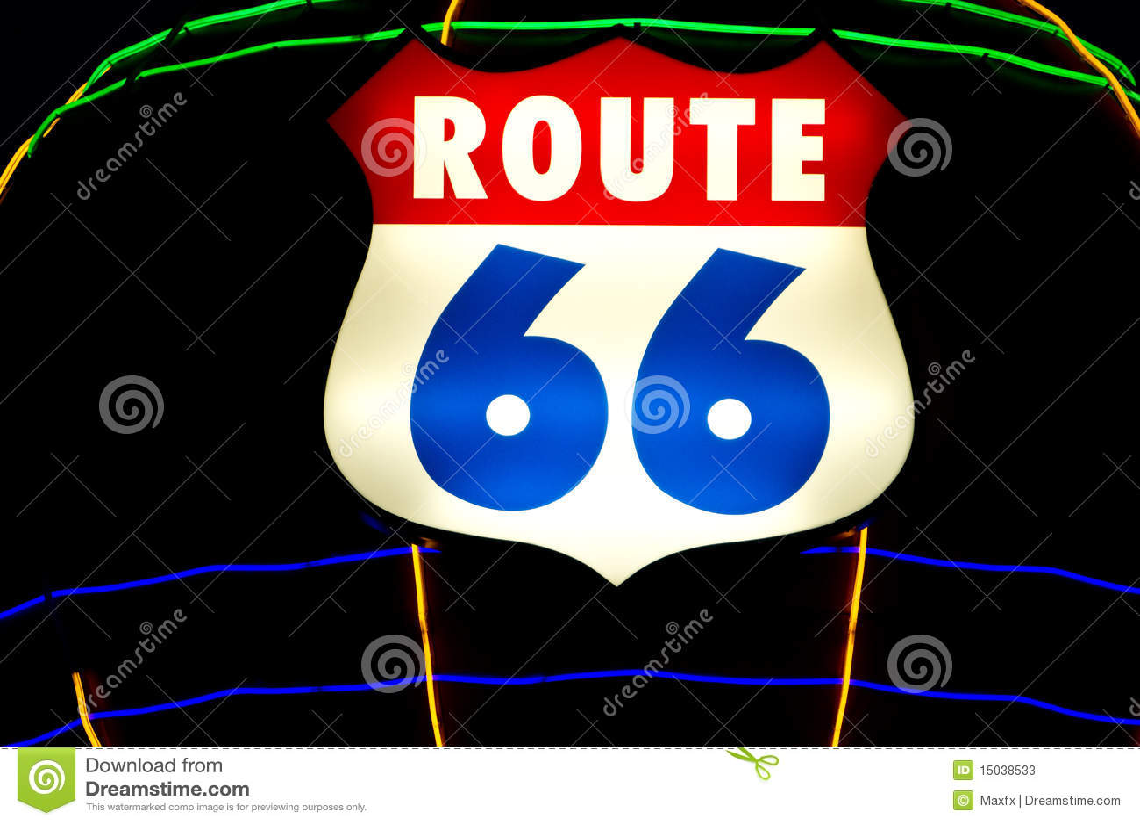 знак трассы 66 исторических светов неоновый