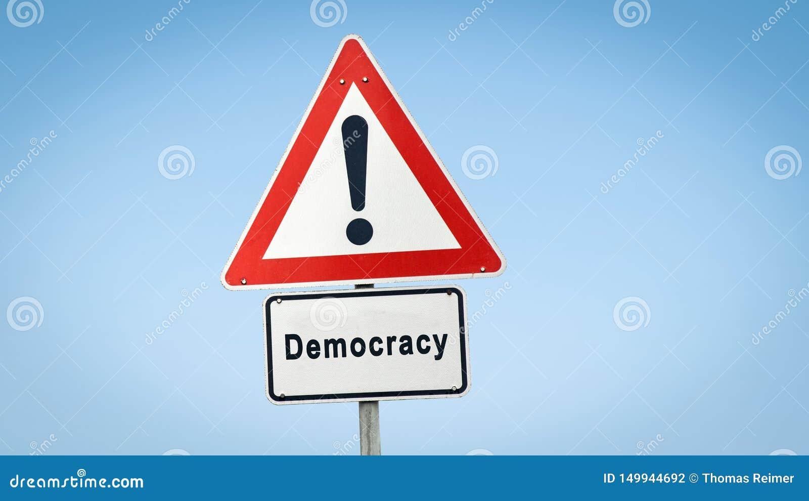 Знак улицы к демократии