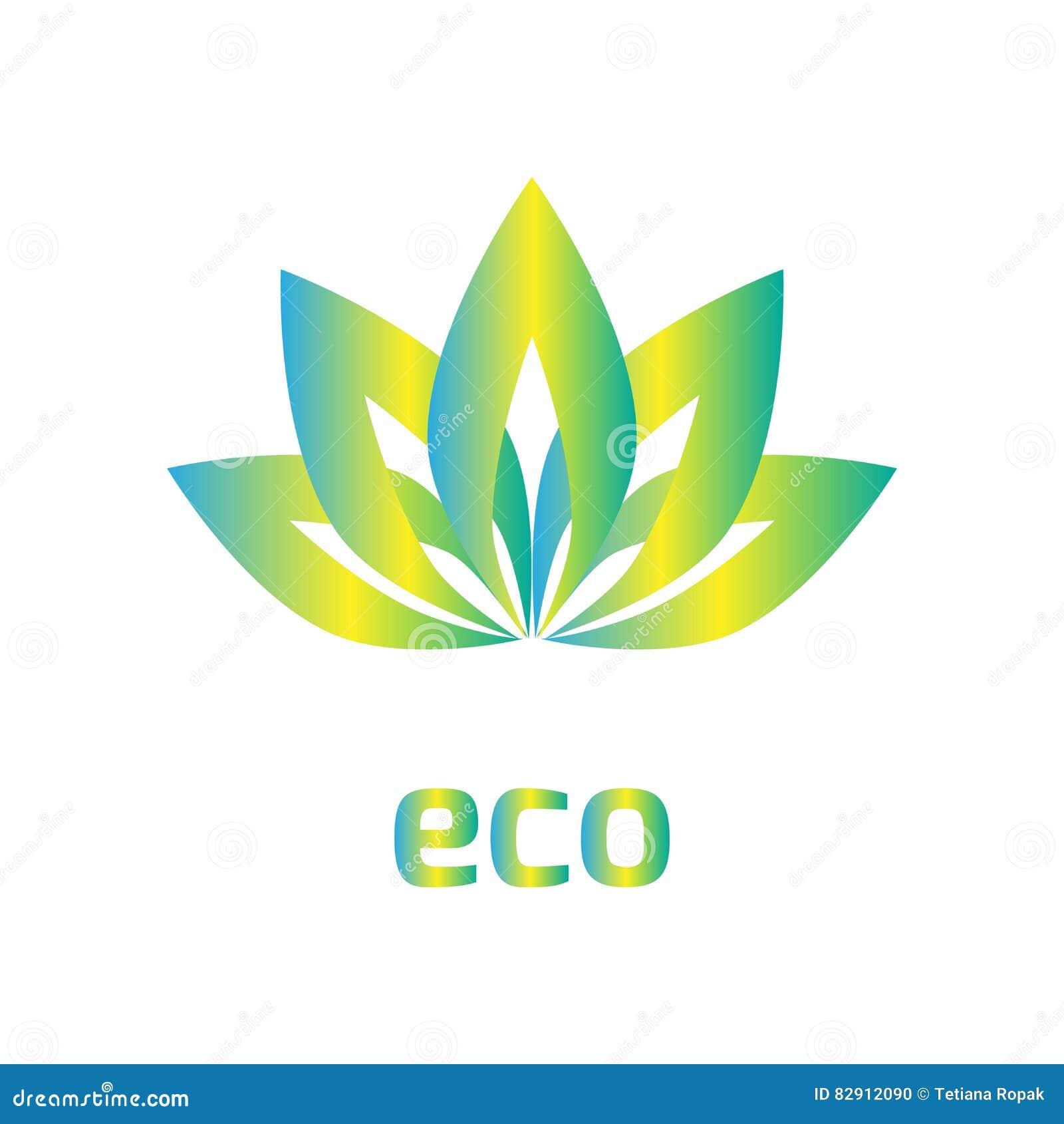 Знак цветка, логотип, лист перекрытия, предпосылка значка eco, иллюстрация вектора, Eps 10, элемент дизайна, геометрический симво