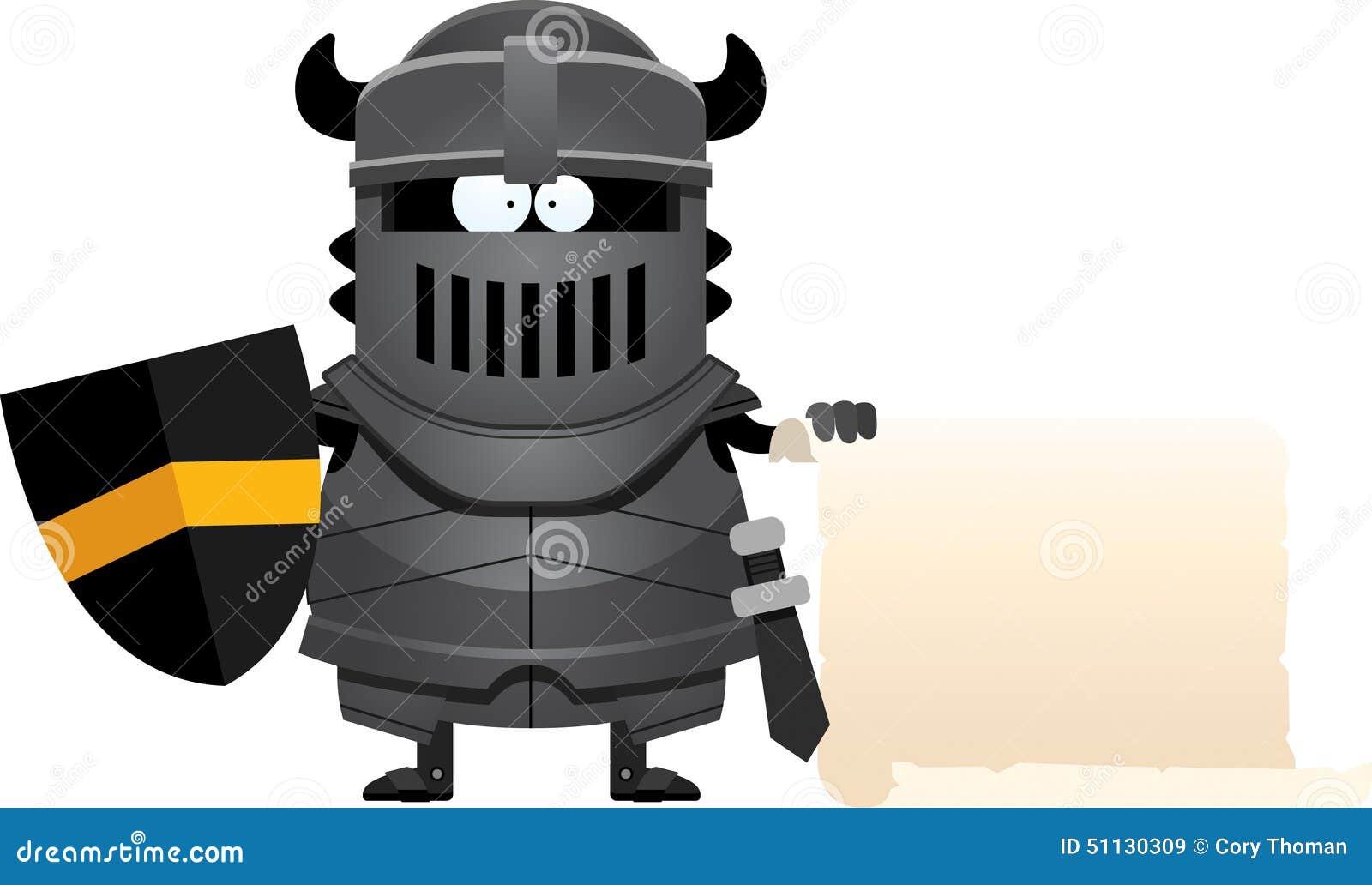 Знак черного рыцаря шаржа