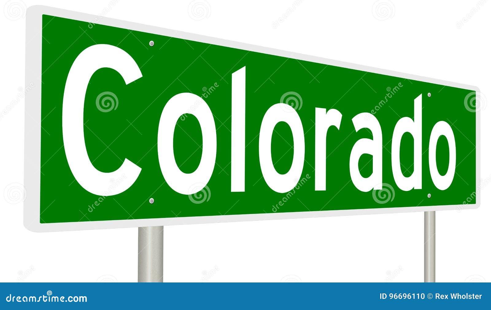 Знак шоссе для положения Колорадо