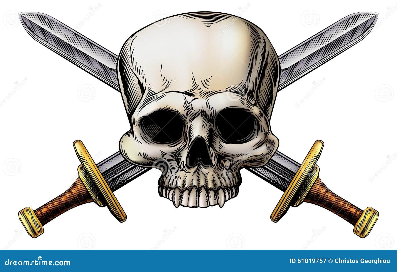 Знак шпаг черепа и креста